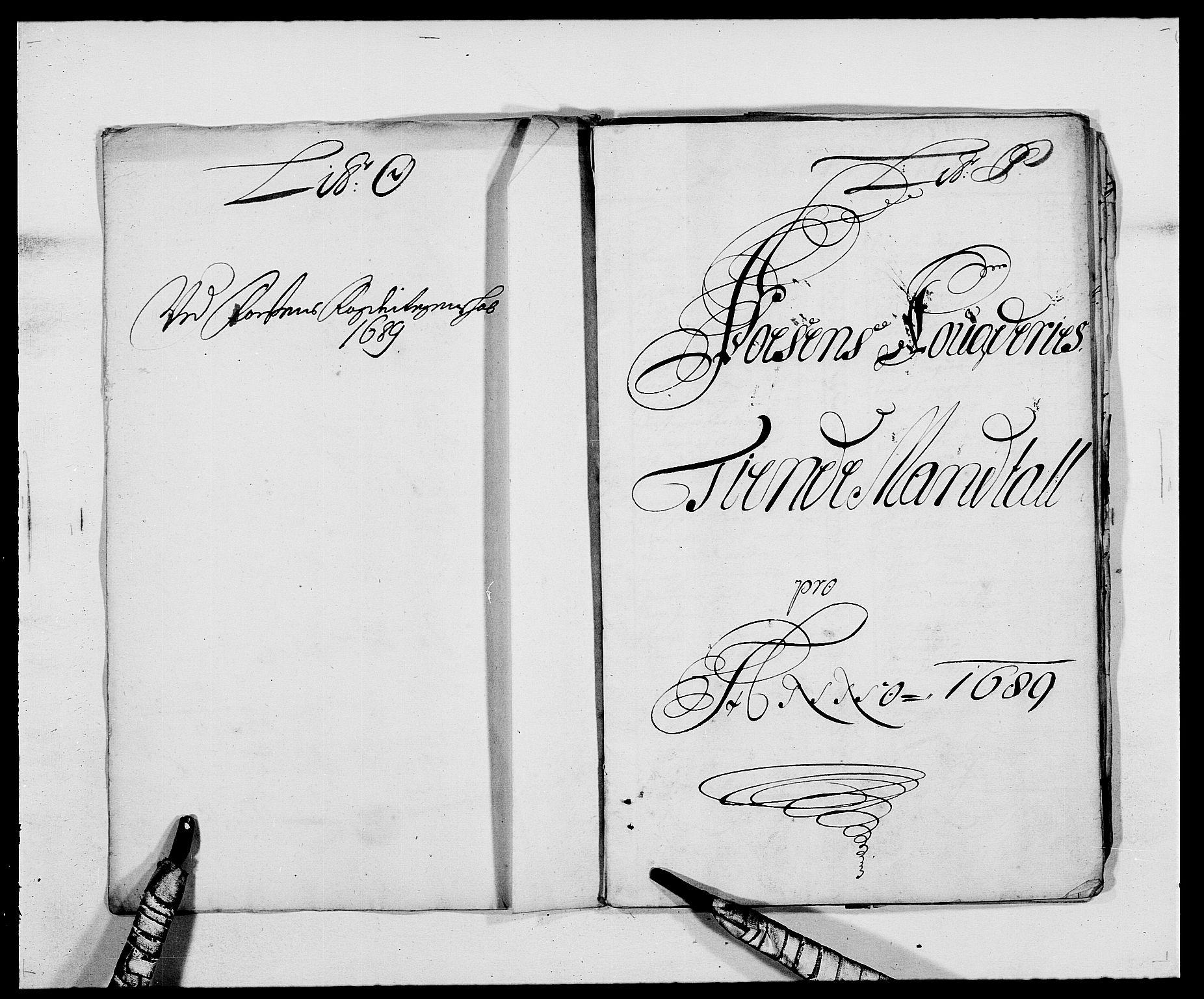 RA, Rentekammeret inntil 1814, Reviderte regnskaper, Fogderegnskap, R57/L3847: Fogderegnskap Fosen, 1689, s. 120