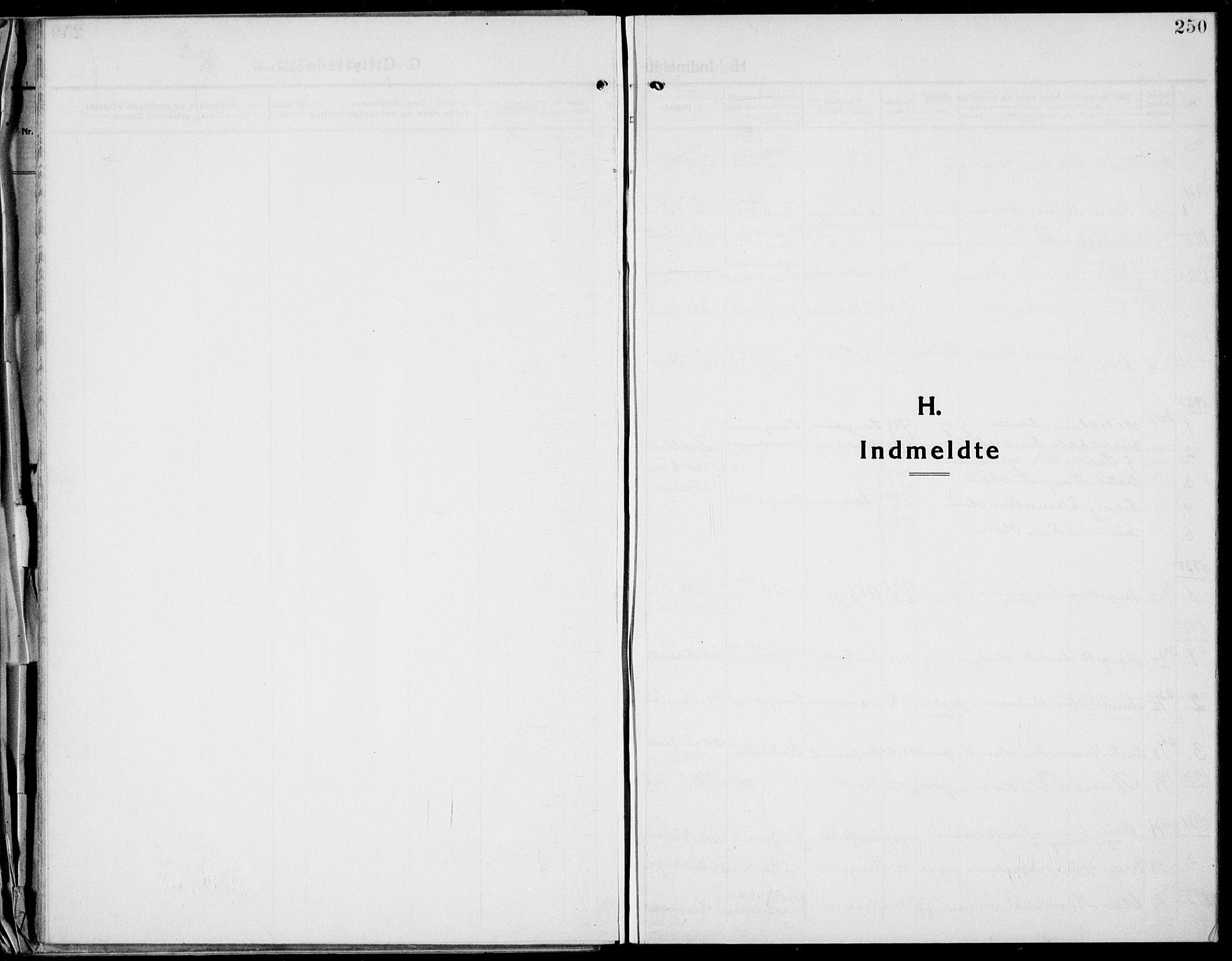 SAKO, Bamble kirkebøker, G/Ga/L0011: Klokkerbok nr. I 11, 1920-1935, s. 250