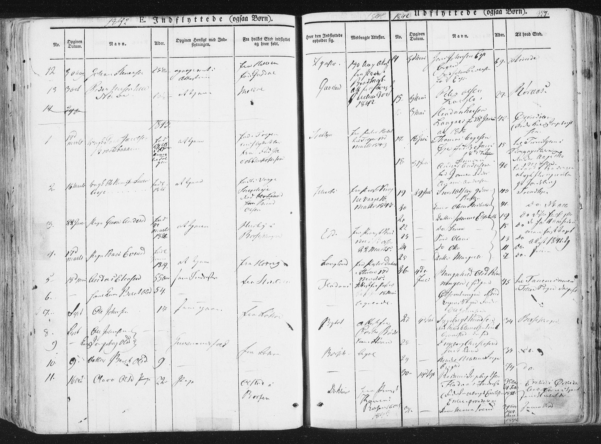 SAT, Ministerialprotokoller, klokkerbøker og fødselsregistre - Sør-Trøndelag, 691/L1074: Ministerialbok nr. 691A06, 1842-1852, s. 377