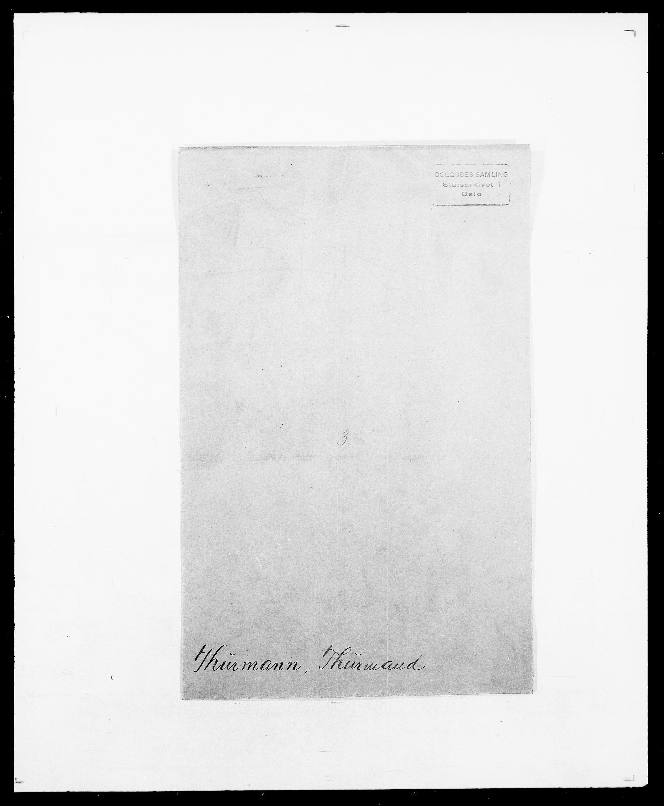 SAO, Delgobe, Charles Antoine - samling, D/Da/L0039: Thorsen - Urup, s. 1