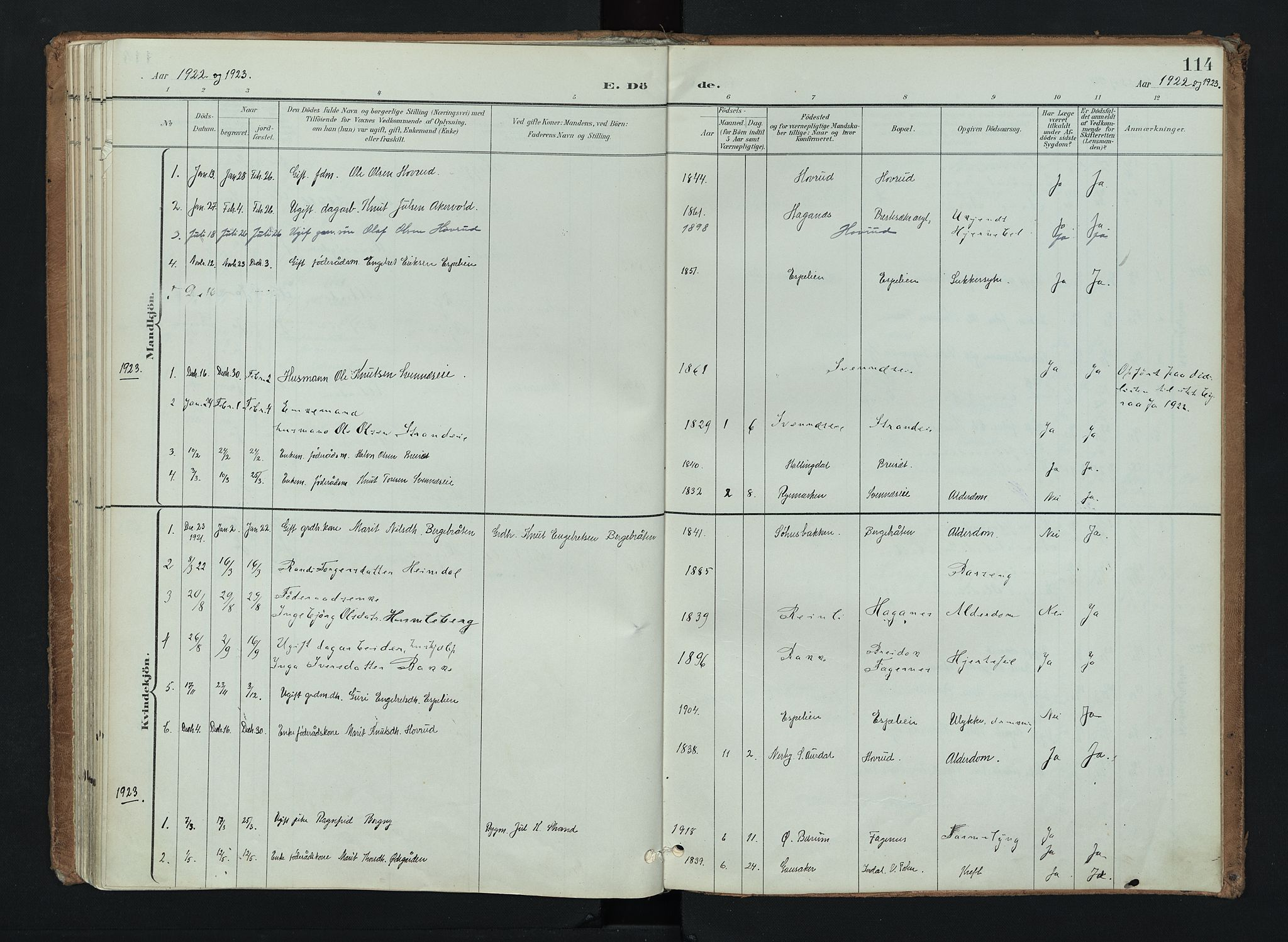 SAH, Nord-Aurdal prestekontor, Ministerialbok nr. 16, 1897-1925, s. 114