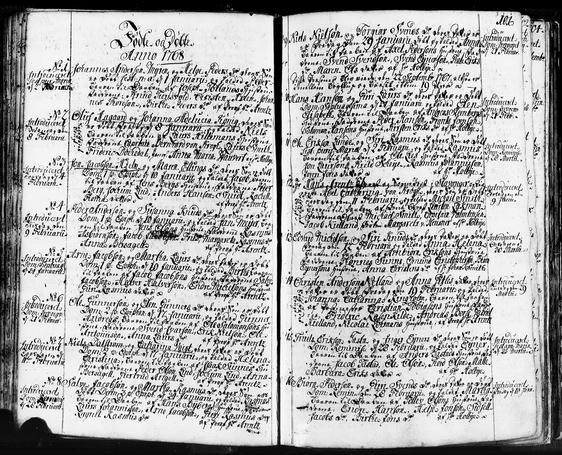 SAST, Domkirken sokneprestkontor, 30/30BB/L0004: Klokkerbok nr. B 4, 1752-1790, s. 101