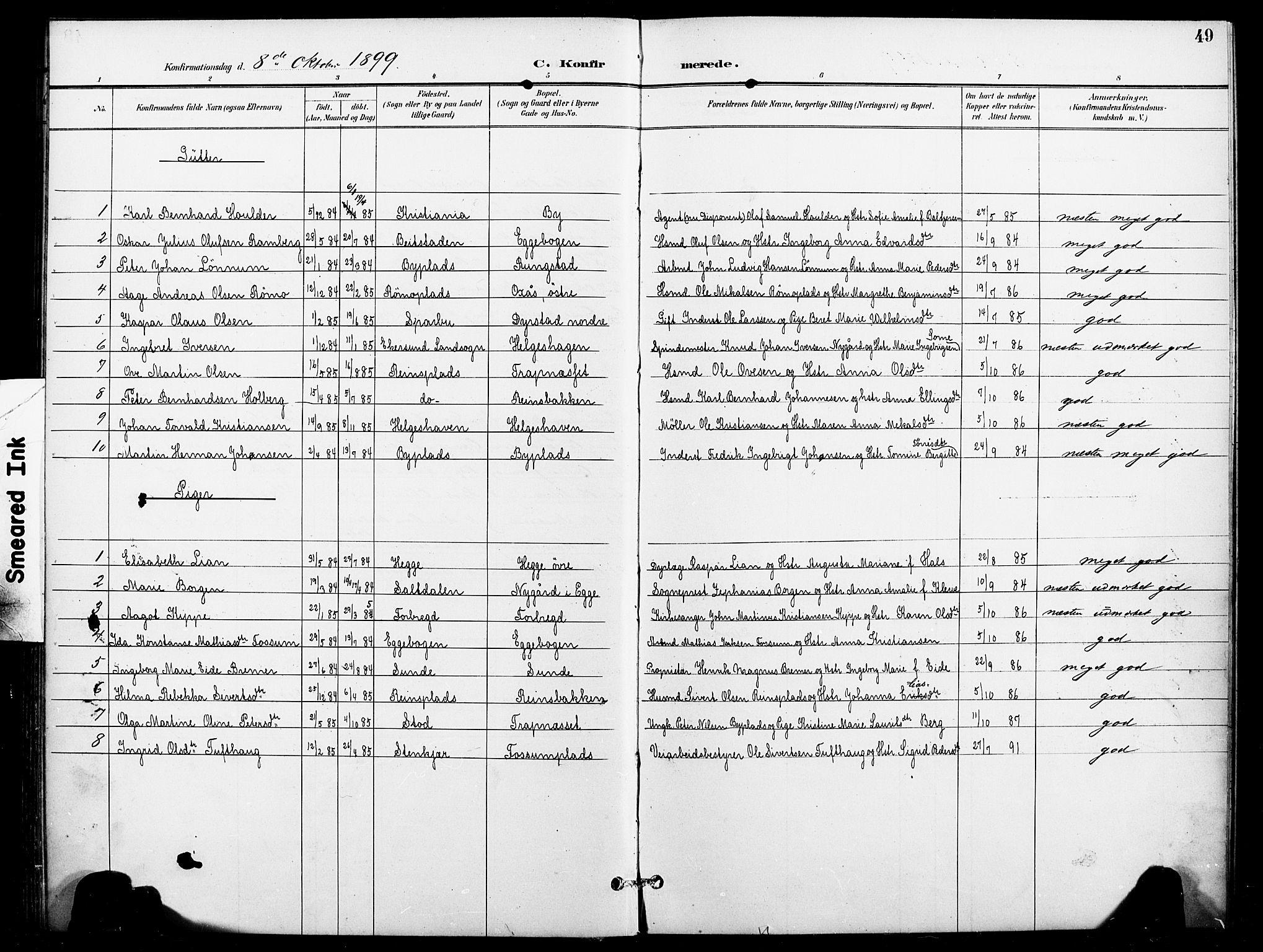 SAT, Ministerialprotokoller, klokkerbøker og fødselsregistre - Nord-Trøndelag, 740/L0379: Ministerialbok nr. 740A02, 1895-1907, s. 49