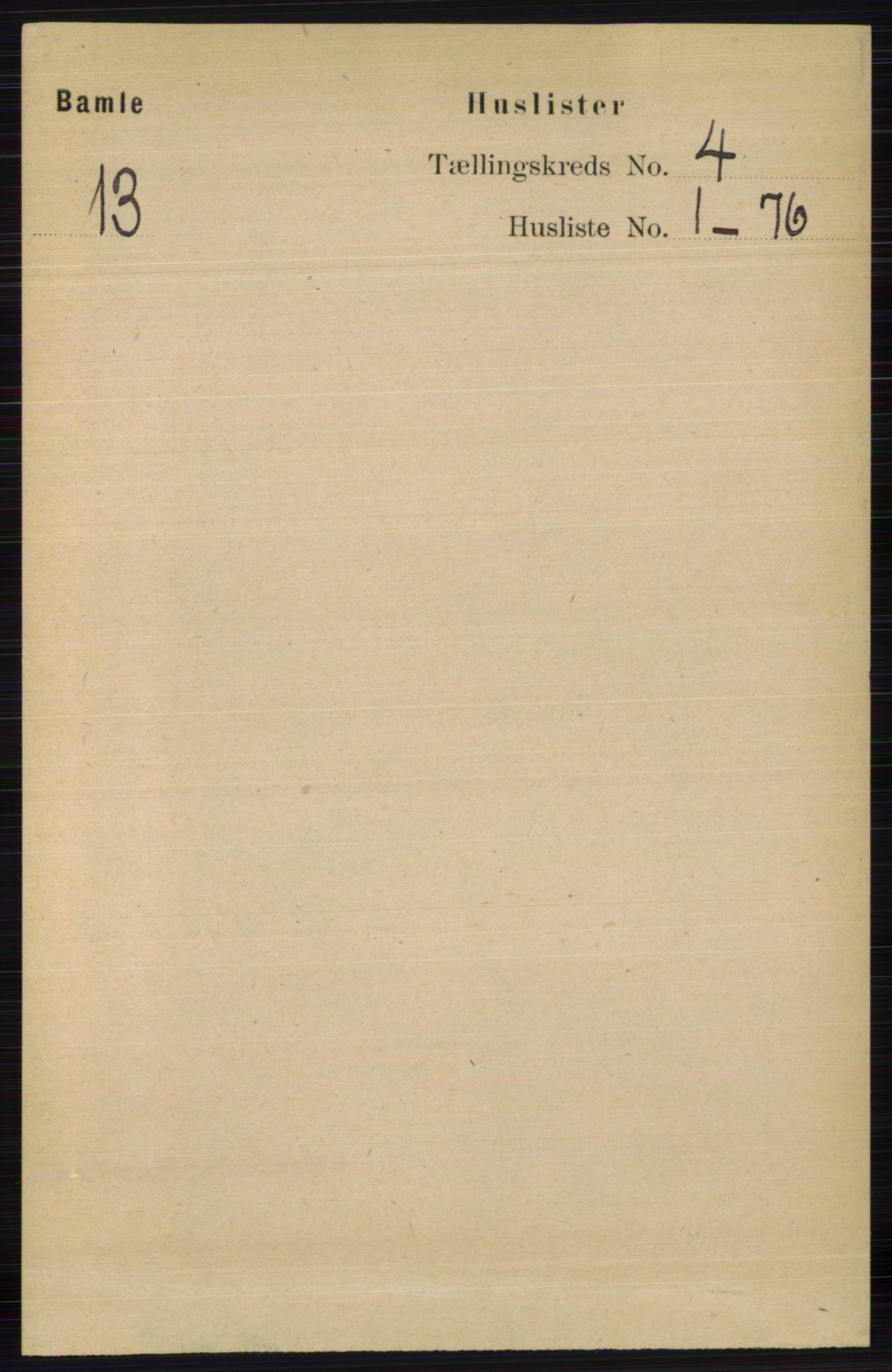RA, Folketelling 1891 for 0814 Bamble herred, 1891, s. 1736