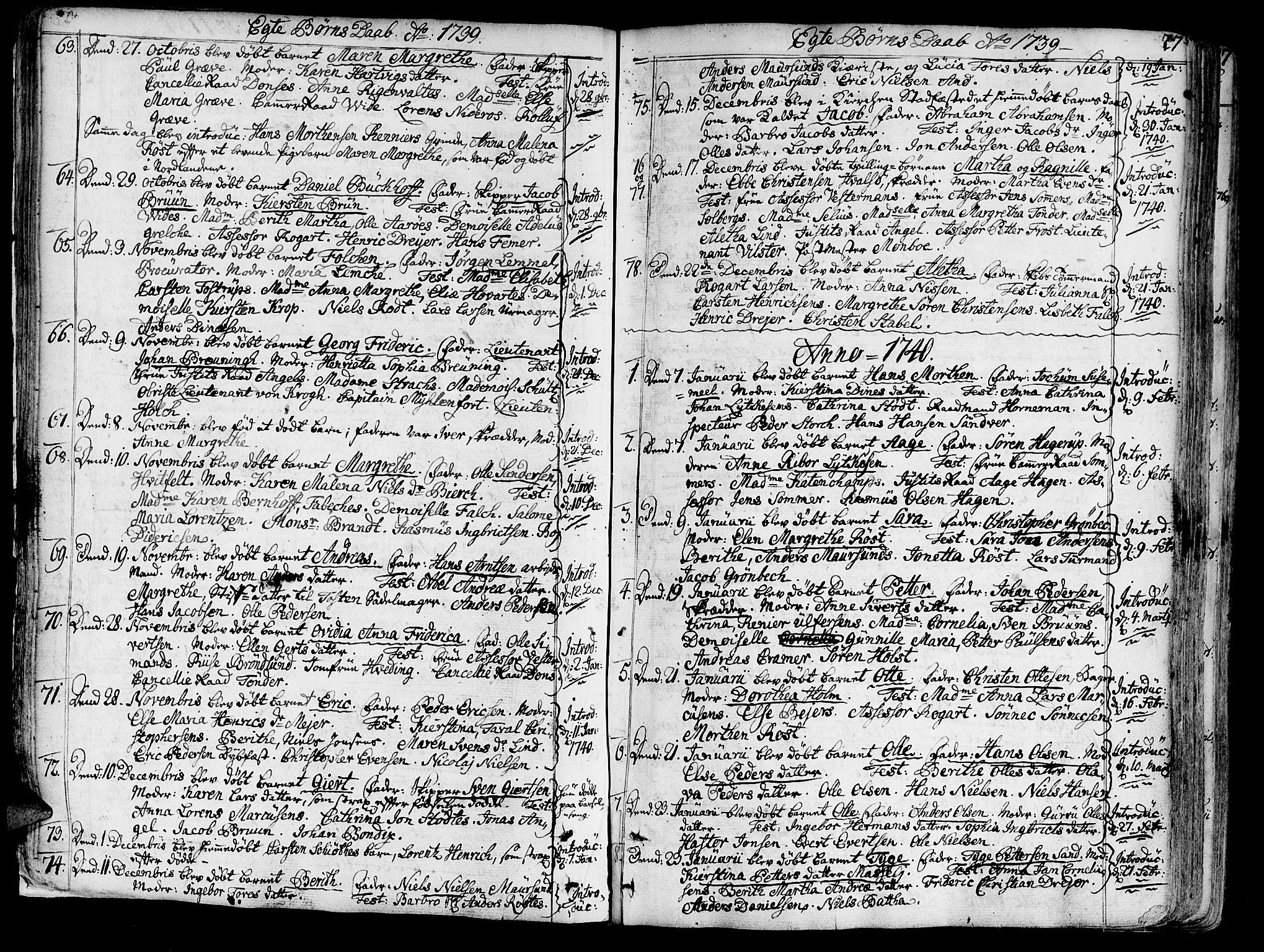 SAT, Ministerialprotokoller, klokkerbøker og fødselsregistre - Sør-Trøndelag, 602/L0103: Ministerialbok nr. 602A01, 1732-1774, s. 27