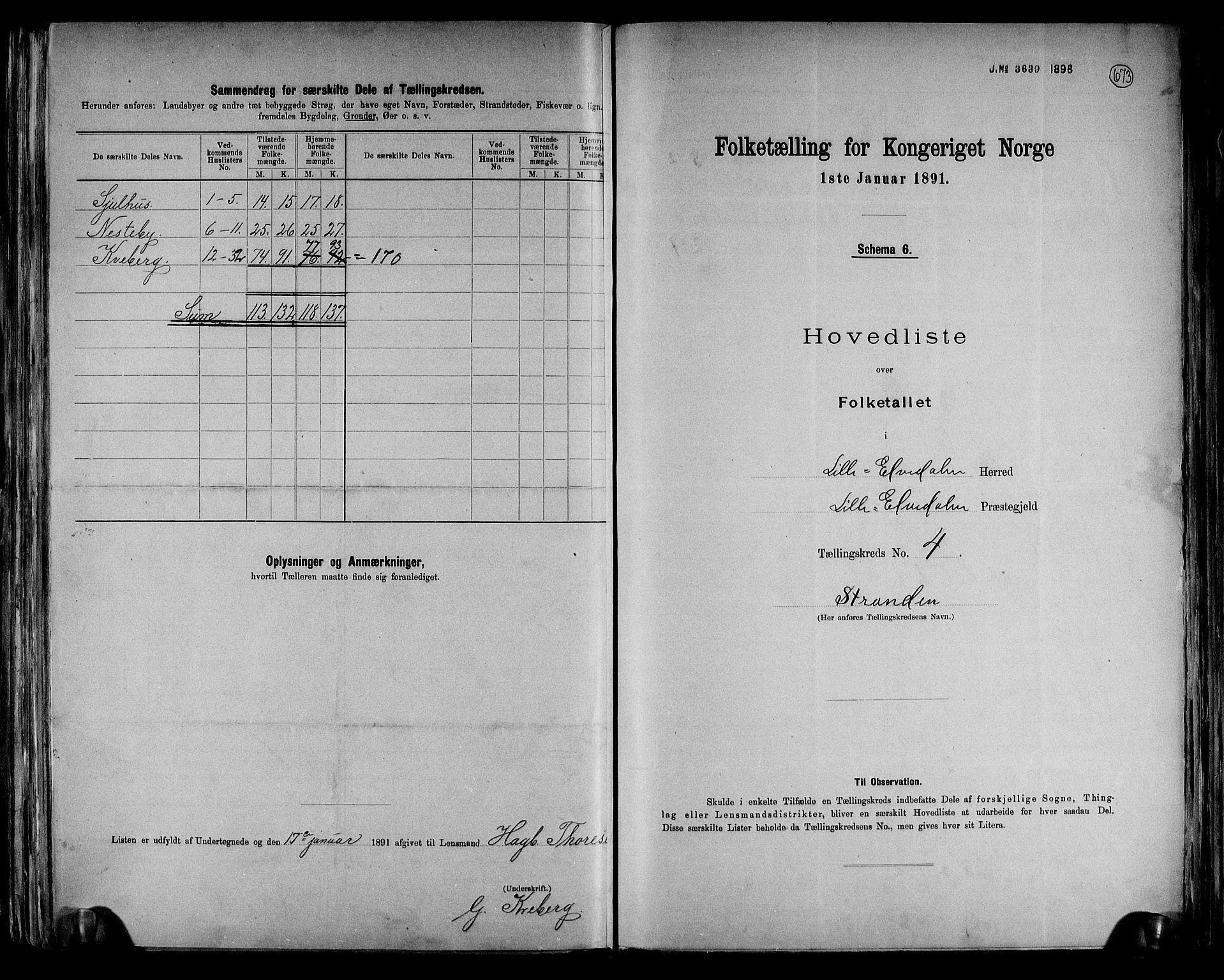 RA, Folketelling 1891 for 0438 Lille Elvedalen herred, 1891, s. 11