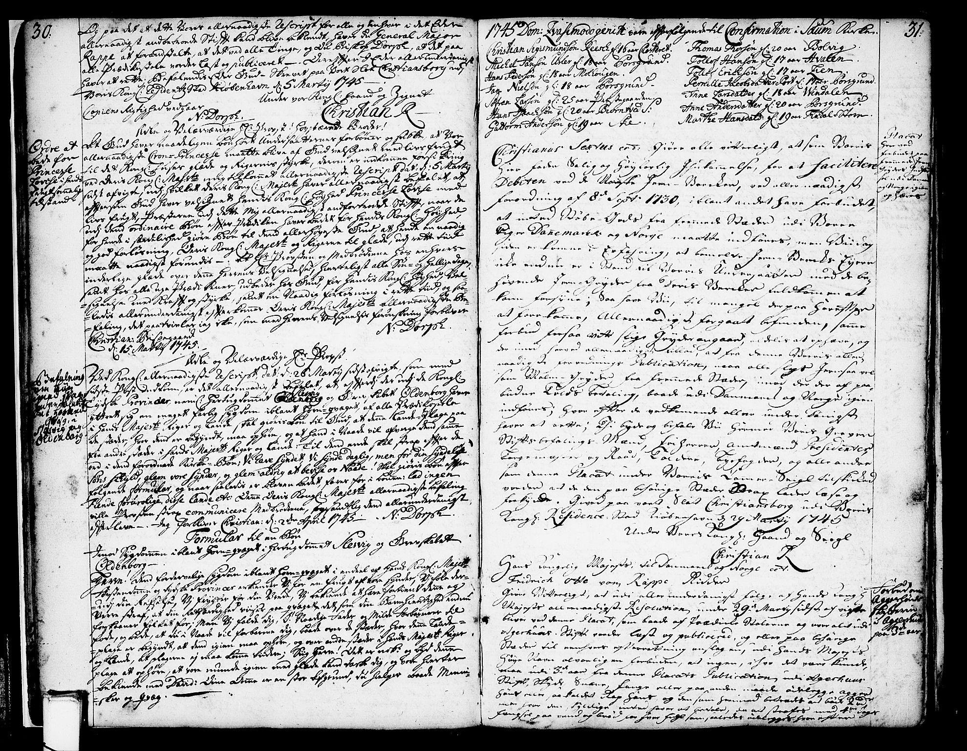SAKO, Solum kirkebøker, Annen kirkebok nr. ?, 1743-1791, s. 30-31