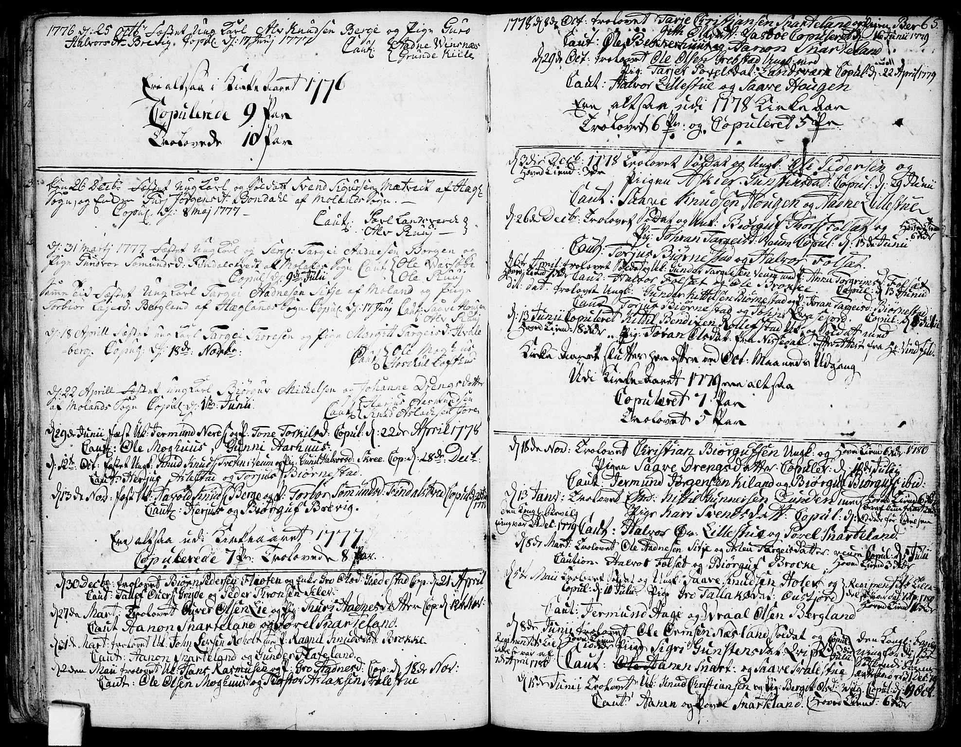 SAKO, Fyresdal kirkebøker, F/Fa/L0002: Ministerialbok nr. I 2, 1769-1814, s. 65