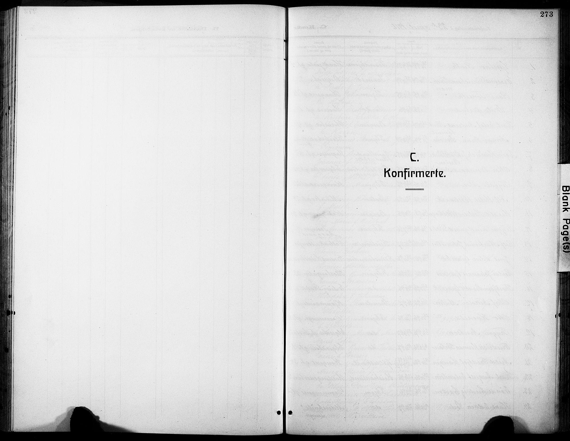 SAT, Ministerialprotokoller, klokkerbøker og fødselsregistre - Sør-Trøndelag, 601/L0096: Klokkerbok nr. 601C14, 1911-1931, s. 273