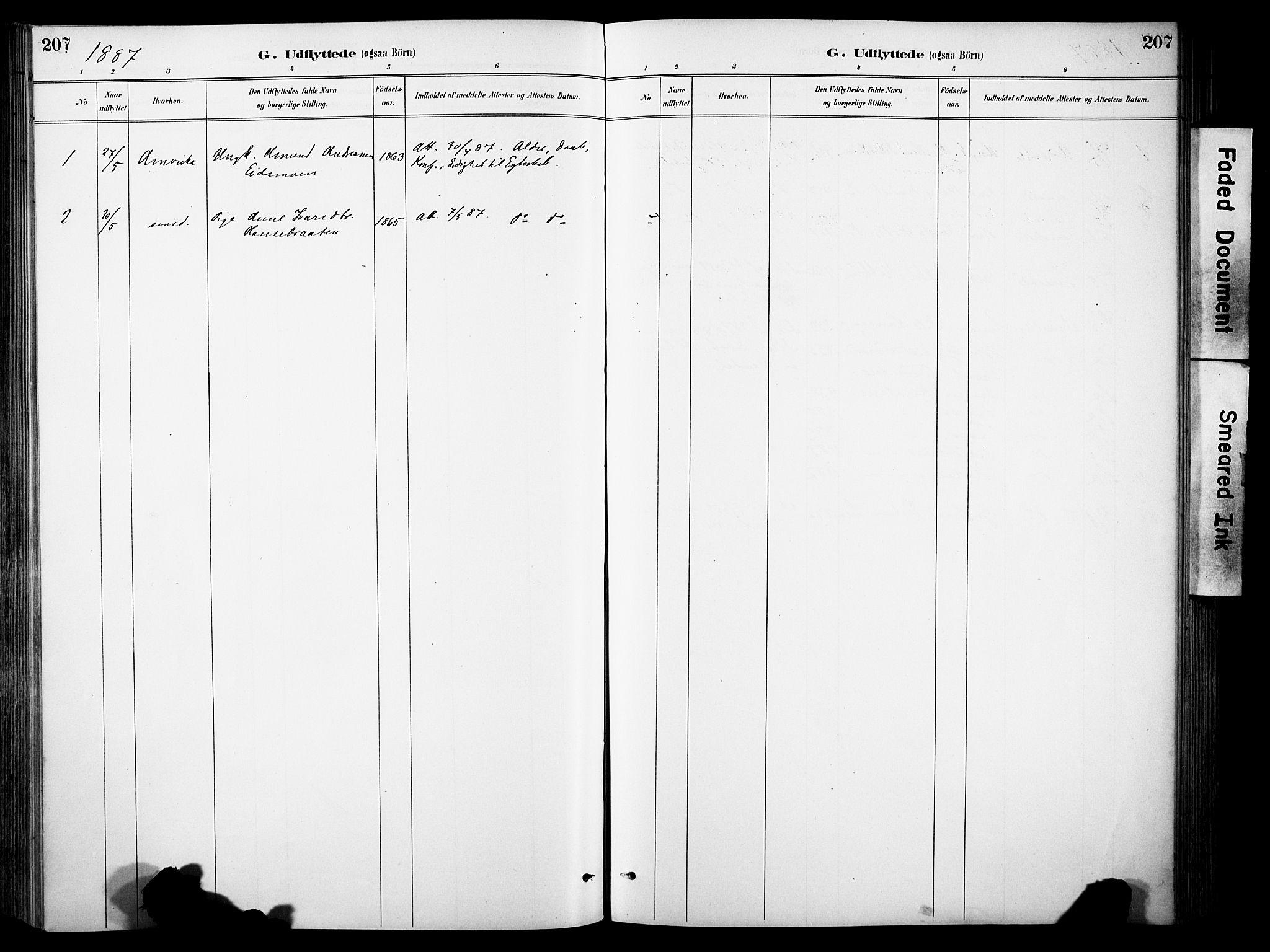 SAH, Sør-Aurdal prestekontor, Ministerialbok nr. 9, 1886-1906, s. 207