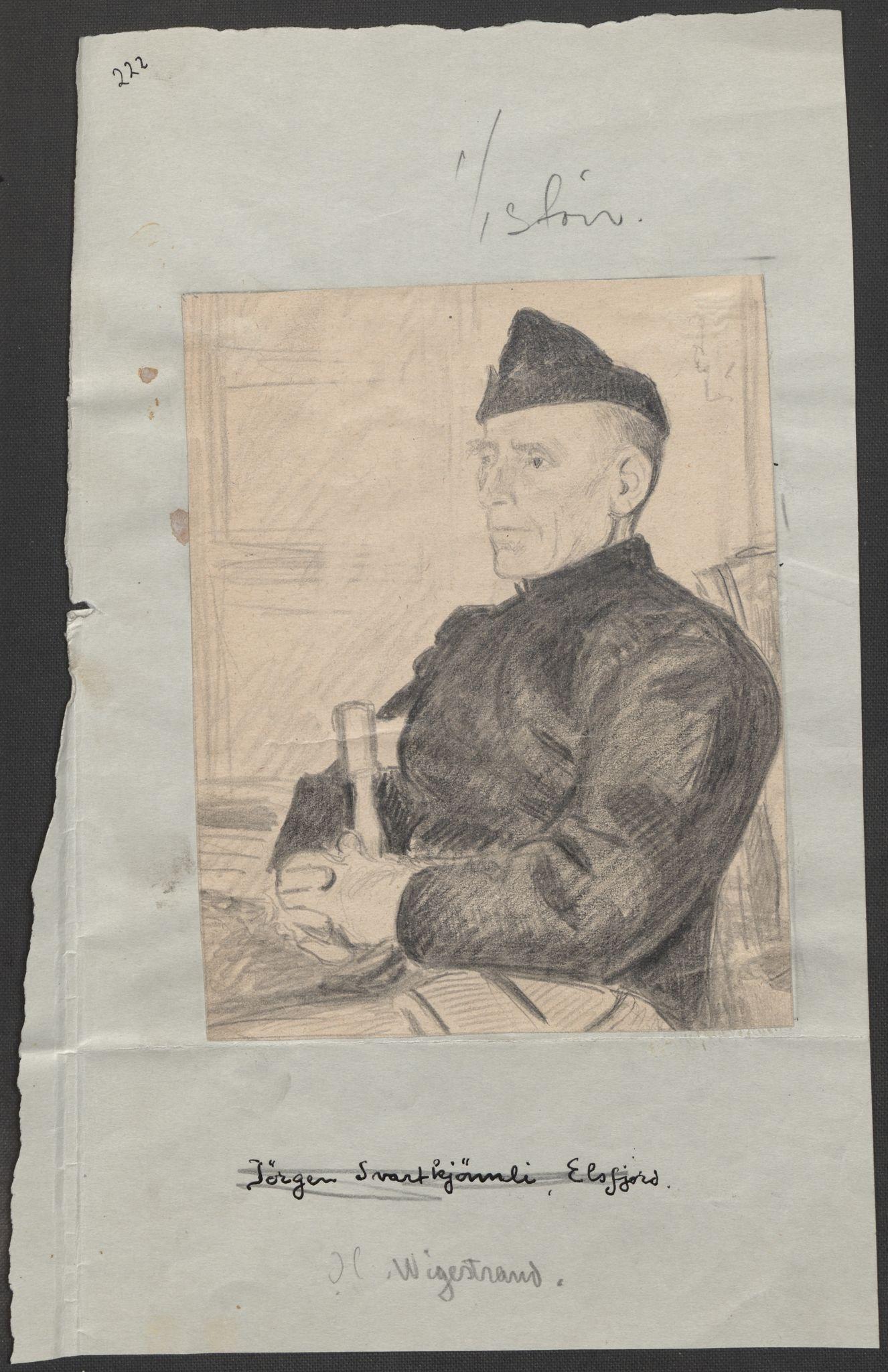 RA, Grøgaard, Joachim, F/L0002: Tegninger og tekster, 1942-1945, s. 98
