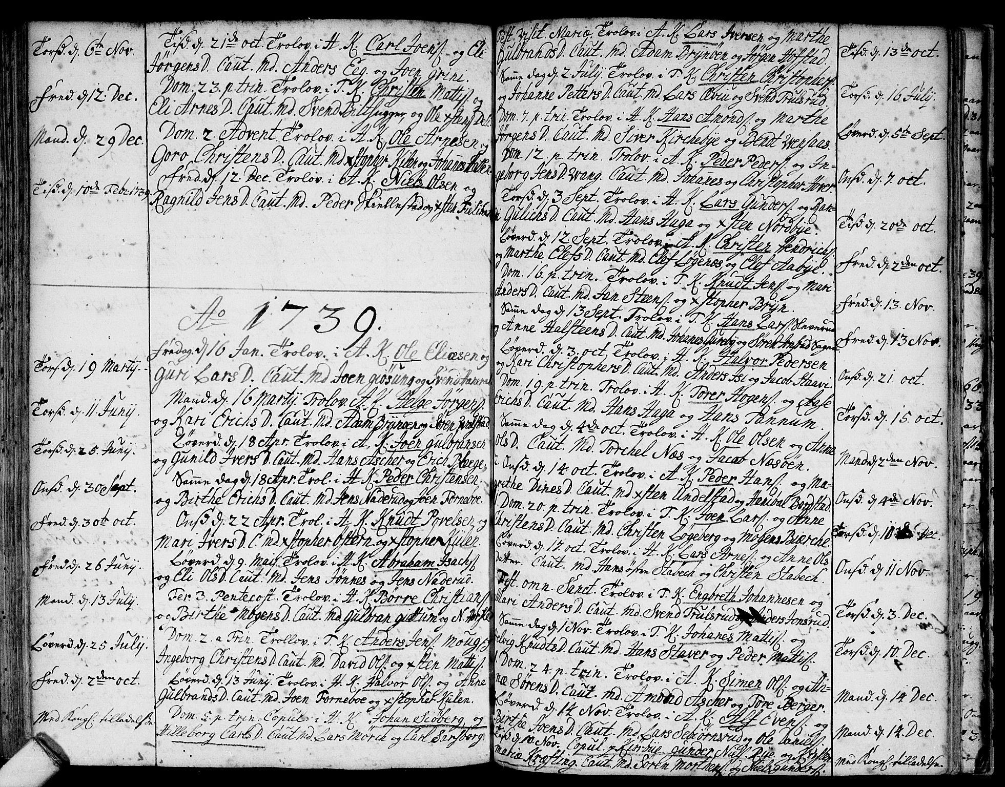 SAO, Asker prestekontor Kirkebøker, F/Fa/L0001: Ministerialbok nr. I 1, 1726-1744, s. 90