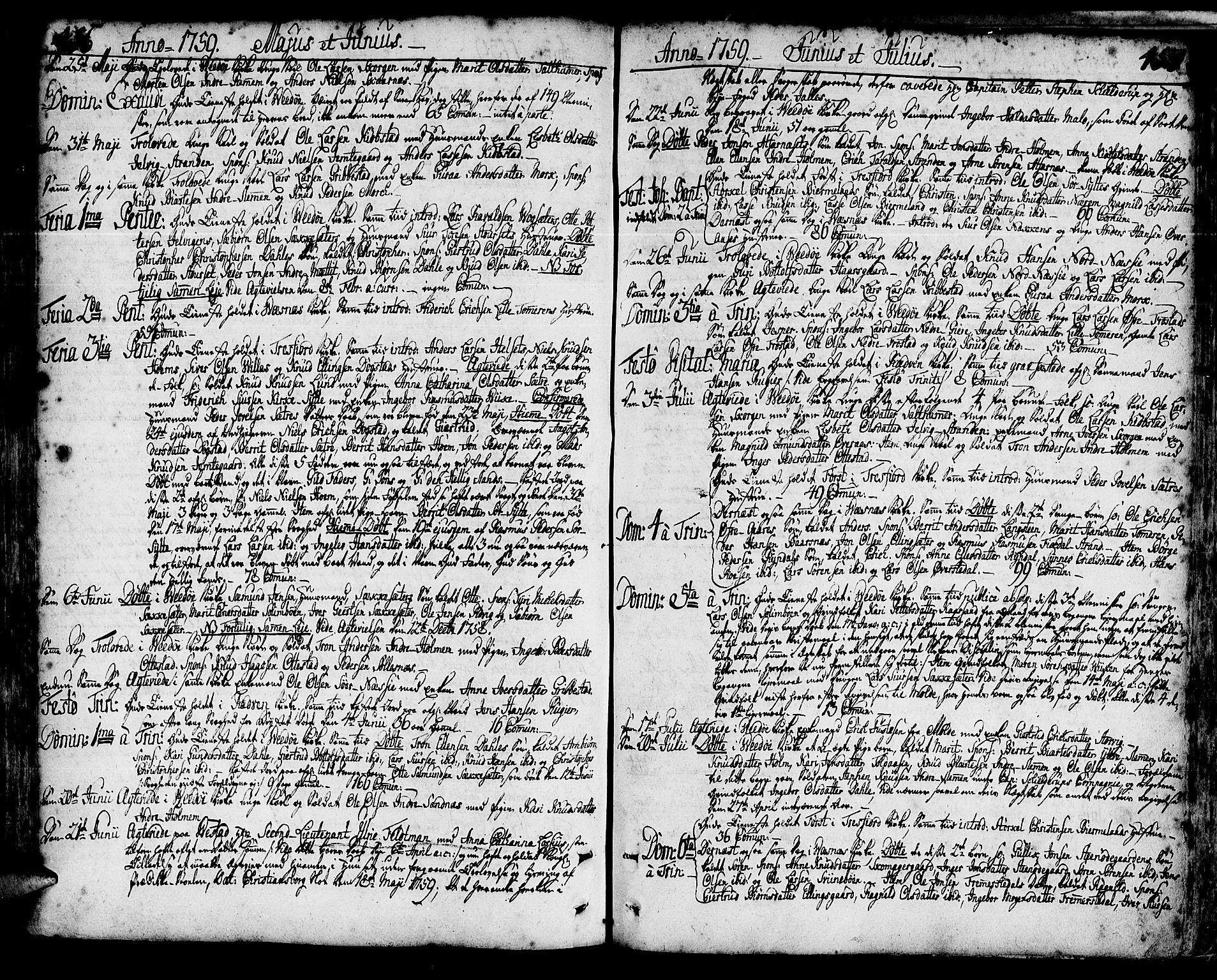SAT, Ministerialprotokoller, klokkerbøker og fødselsregistre - Møre og Romsdal, 547/L0599: Ministerialbok nr. 547A01, 1721-1764, s. 456-457