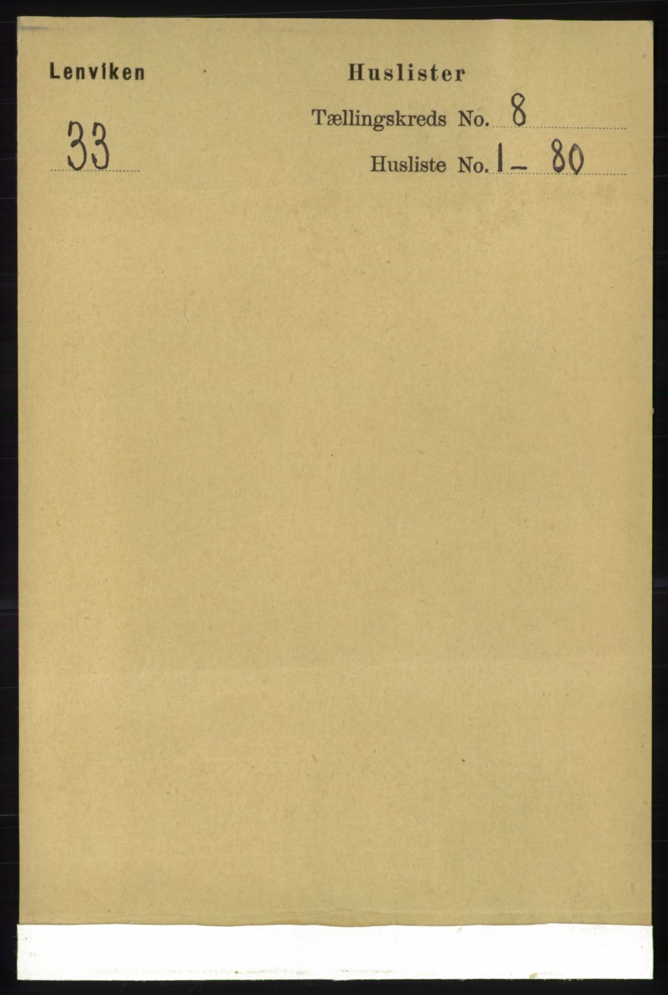 RA, Folketelling 1891 for 1931 Lenvik herred, 1891, s. 4309