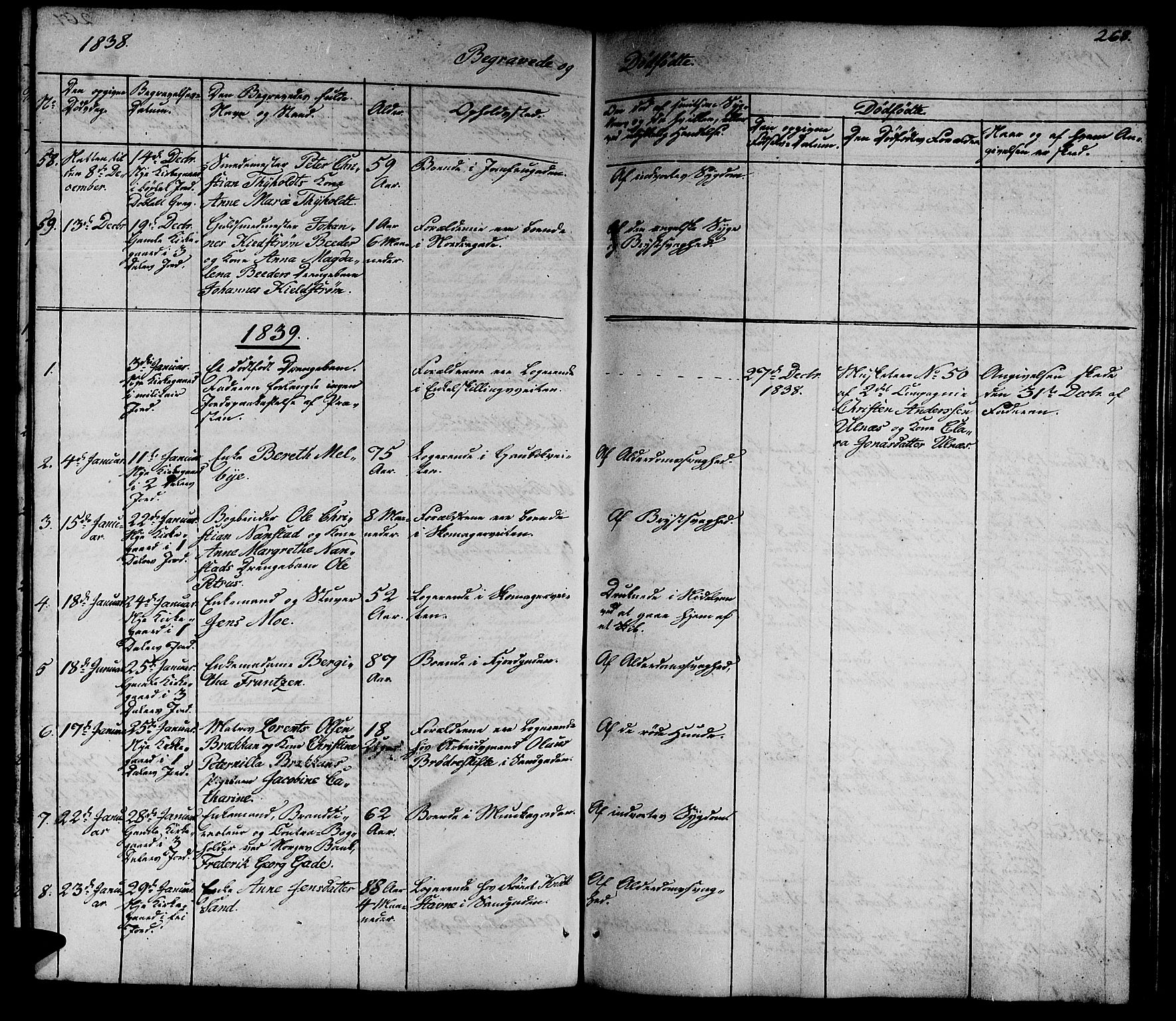 SAT, Ministerialprotokoller, klokkerbøker og fødselsregistre - Sør-Trøndelag, 602/L0136: Klokkerbok nr. 602C04, 1833-1845, s. 268