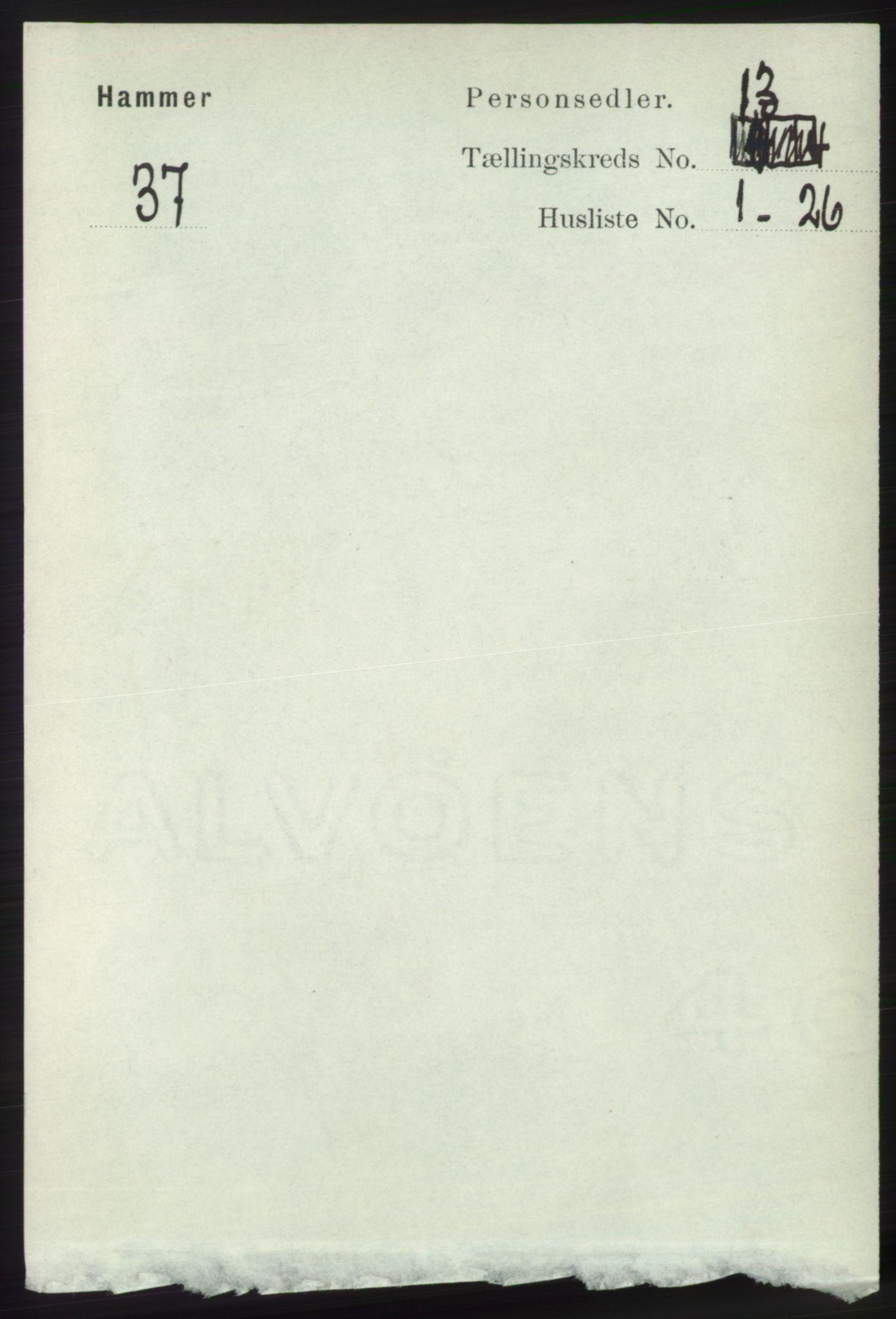 RA, Folketelling 1891 for 1254 Hamre herred, 1891, s. 3992