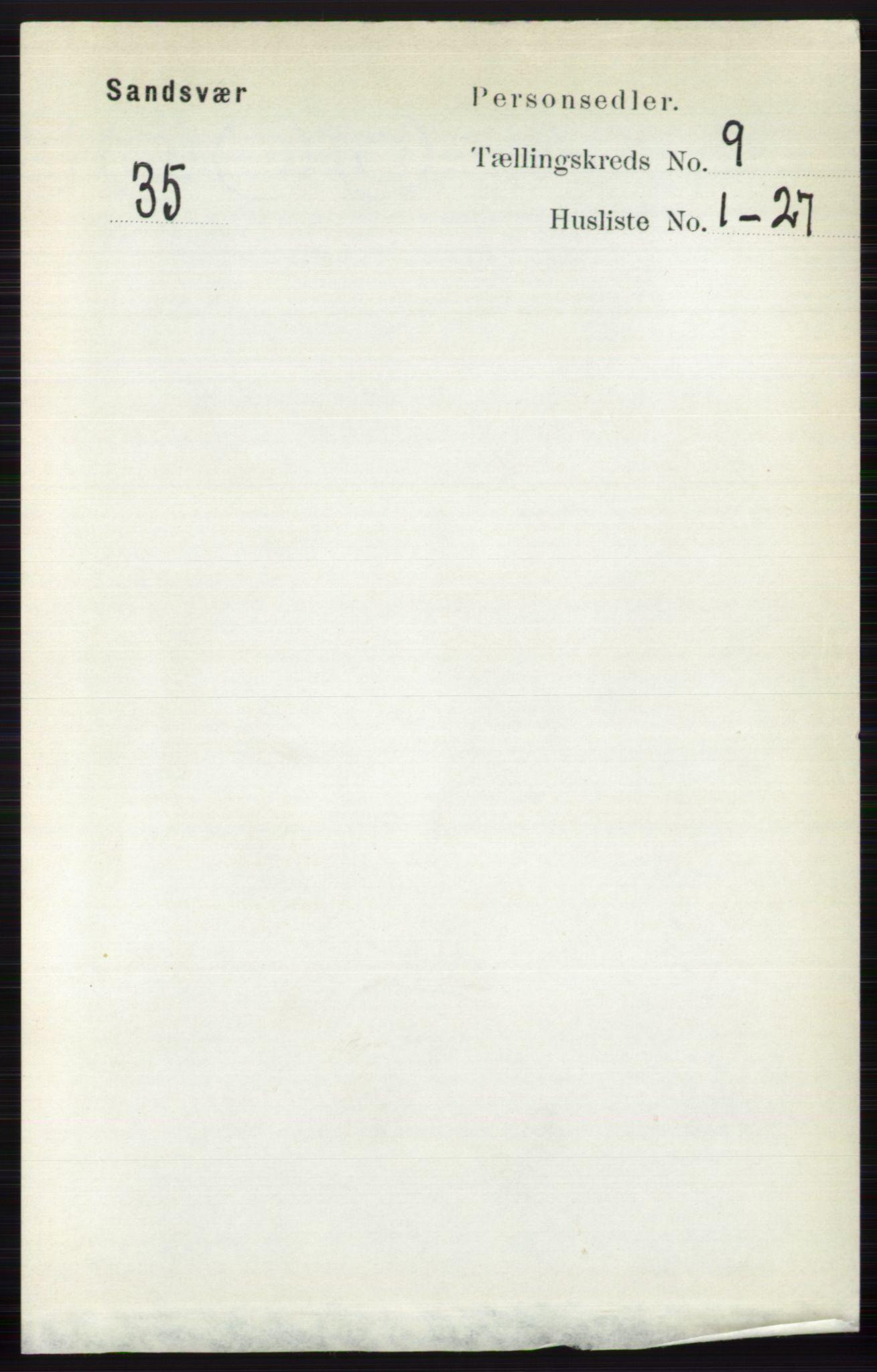 RA, Folketelling 1891 for 0629 Sandsvær herred, 1891, s. 4427