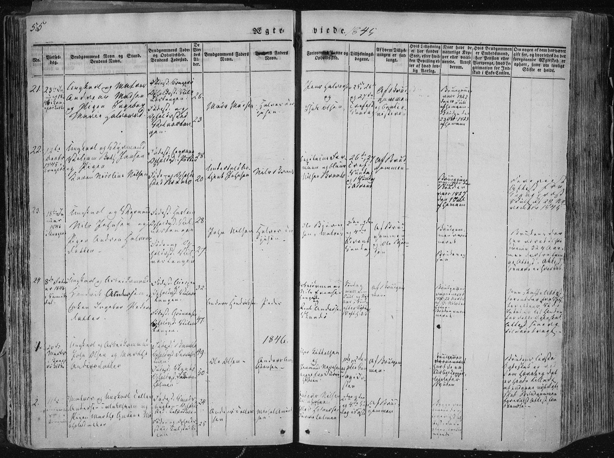 SAKO, Sannidal kirkebøker, F/Fa/L0007: Ministerialbok nr. 7, 1831-1854, s. 55