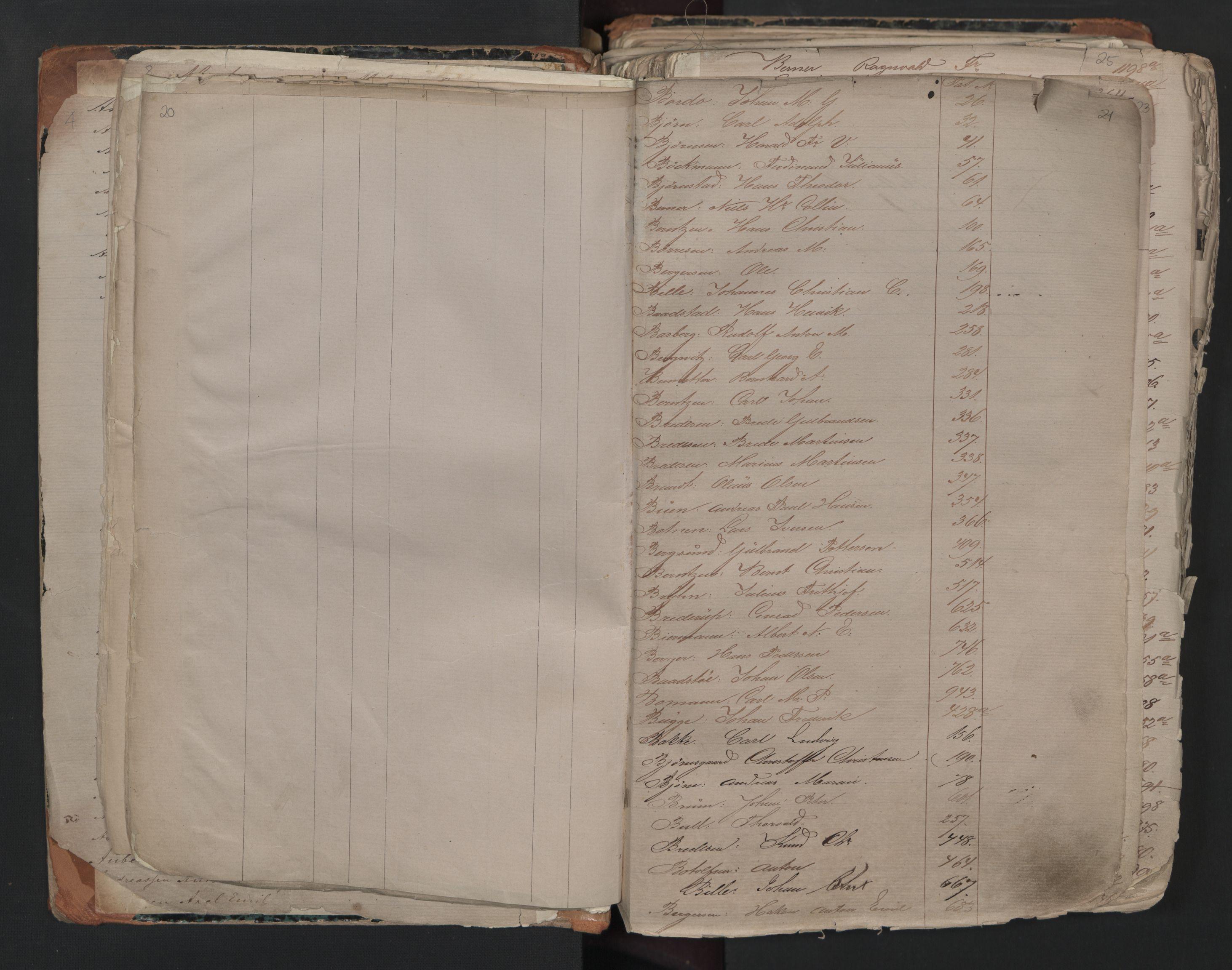 SAO, Oslo sjømannskontor, F/Fa/L0001: Register for Kristiania krets, 1866-1891, s. 20-21
