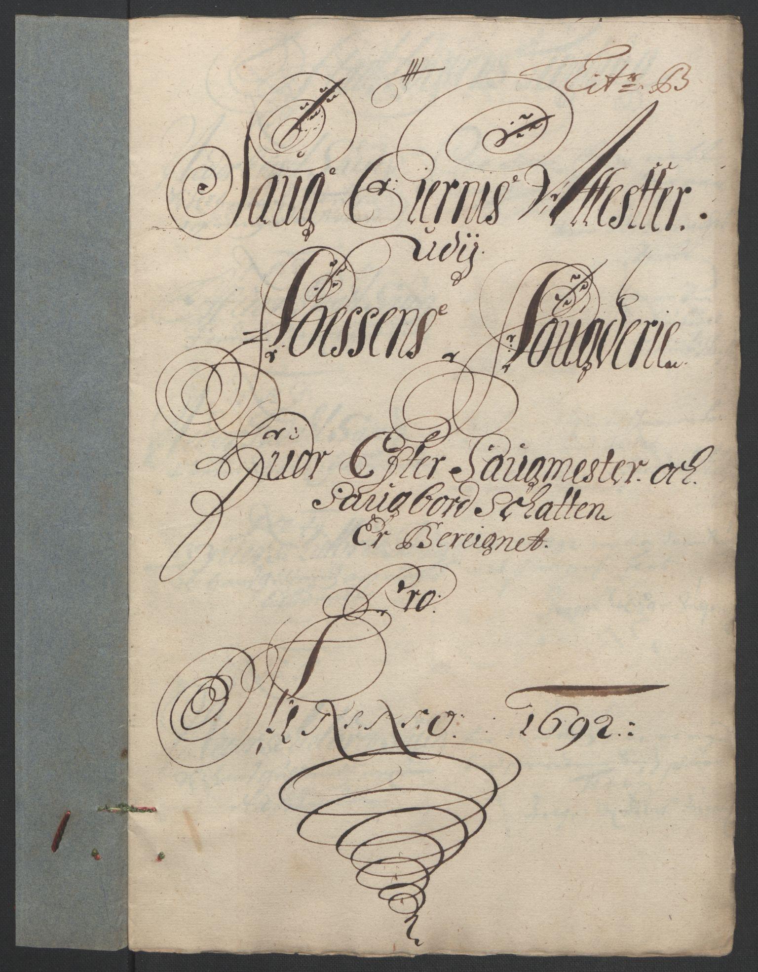 RA, Rentekammeret inntil 1814, Reviderte regnskaper, Fogderegnskap, R57/L3849: Fogderegnskap Fosen, 1692-1693, s. 72