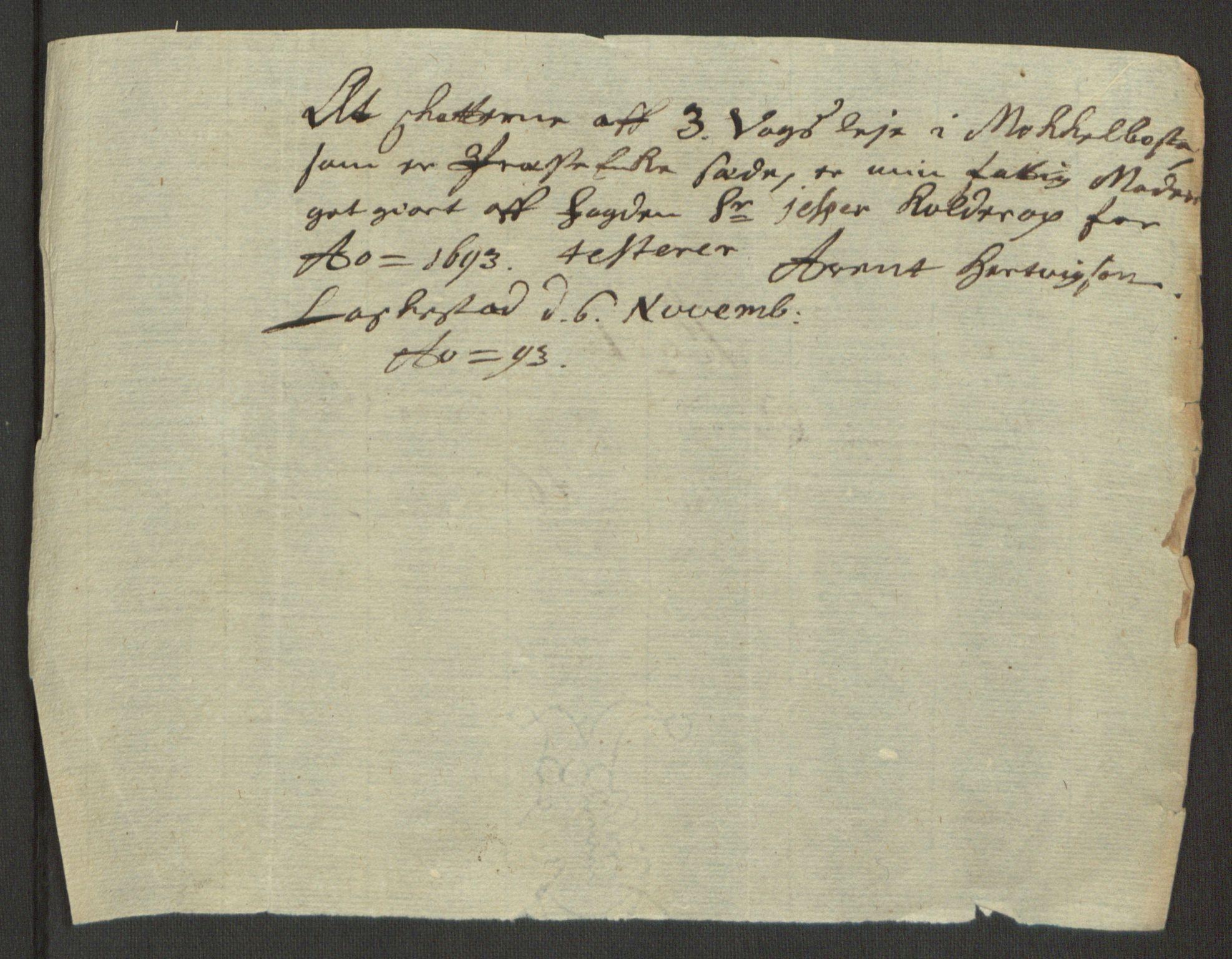 RA, Rentekammeret inntil 1814, Reviderte regnskaper, Fogderegnskap, R66/L4577: Fogderegnskap Salten, 1691-1693, s. 335
