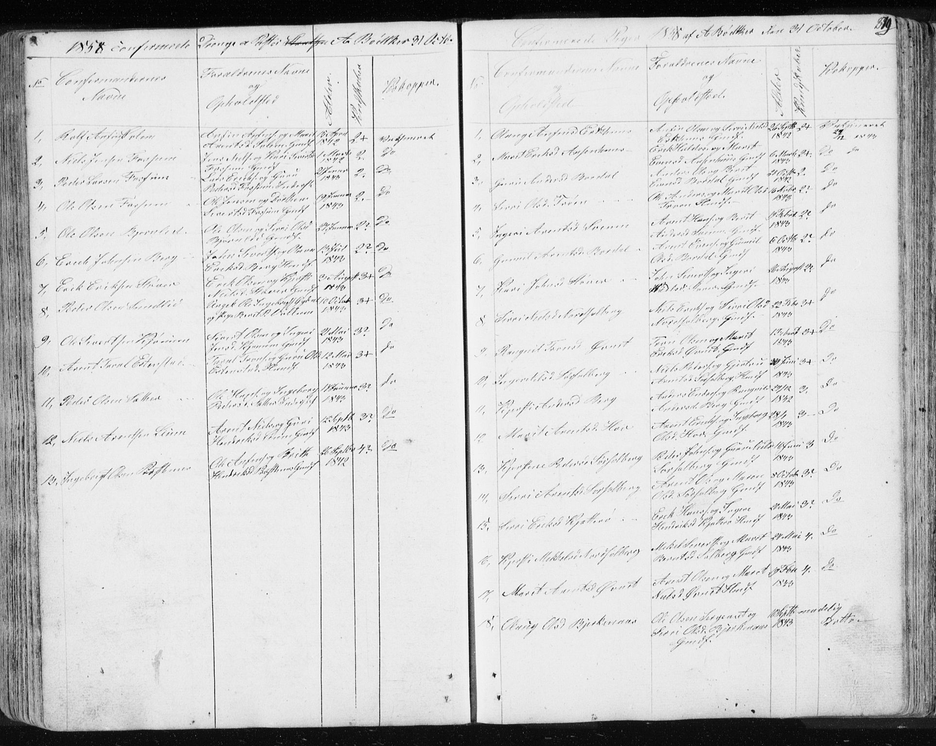SAT, Ministerialprotokoller, klokkerbøker og fødselsregistre - Sør-Trøndelag, 689/L1043: Klokkerbok nr. 689C02, 1816-1892, s. 279