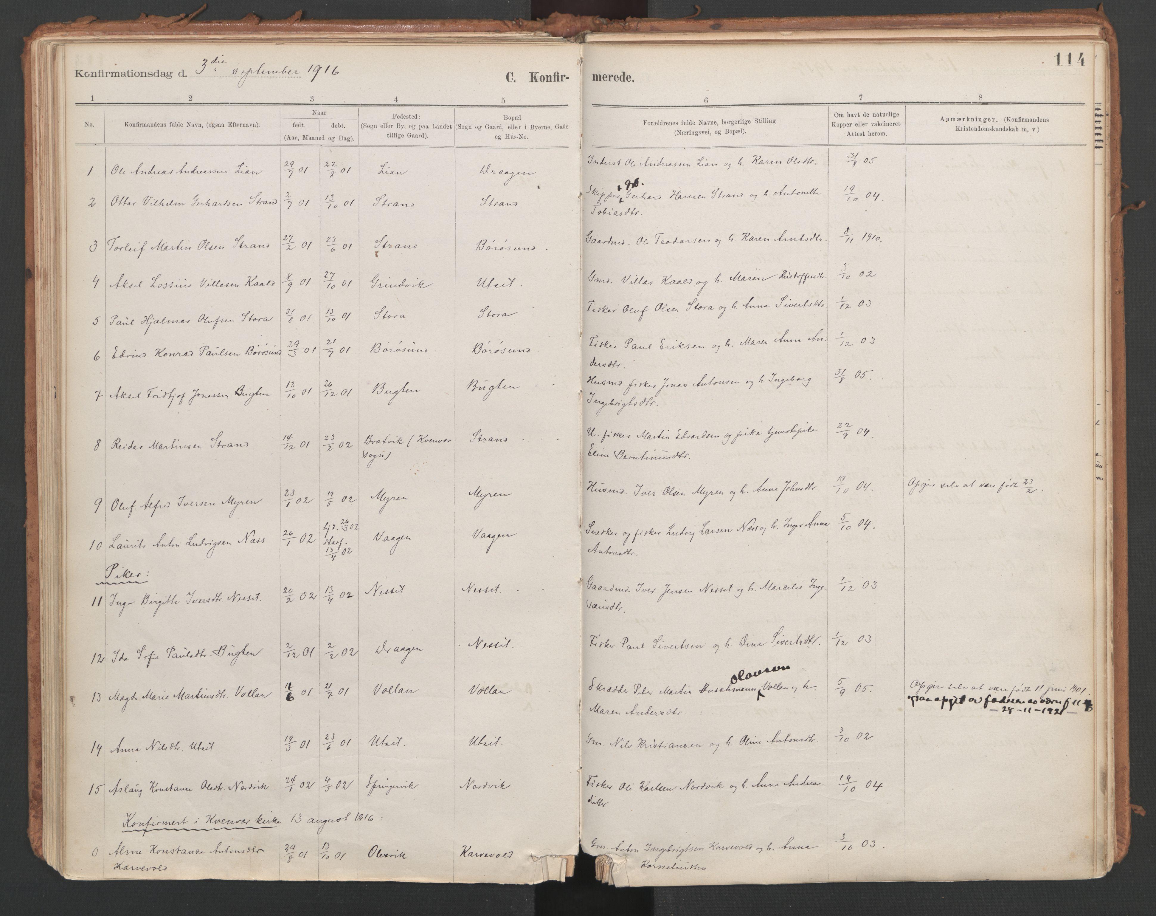 SAT, Ministerialprotokoller, klokkerbøker og fødselsregistre - Sør-Trøndelag, 639/L0572: Ministerialbok nr. 639A01, 1890-1920, s. 114