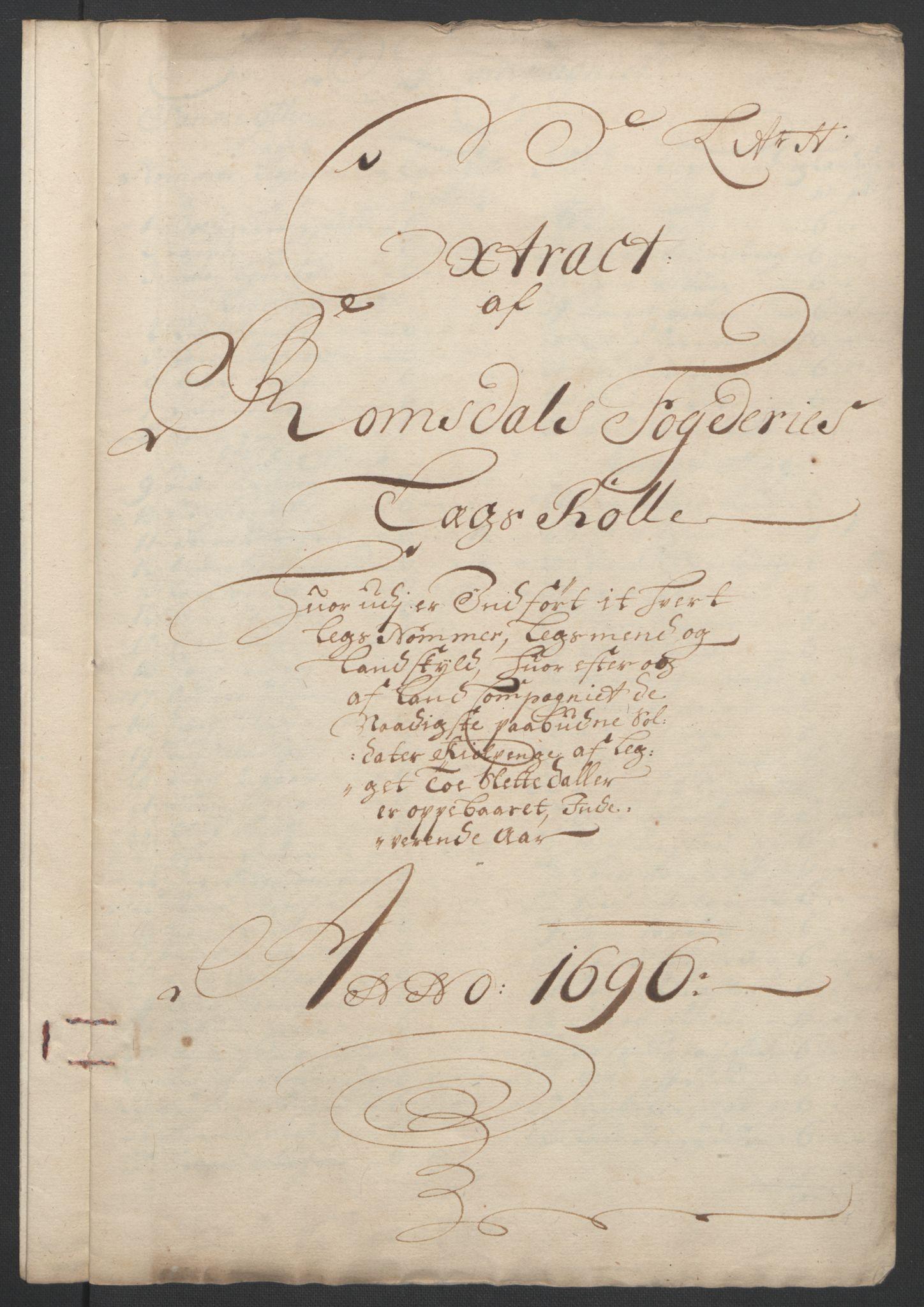 RA, Rentekammeret inntil 1814, Reviderte regnskaper, Fogderegnskap, R55/L3652: Fogderegnskap Romsdal, 1695-1696, s. 247