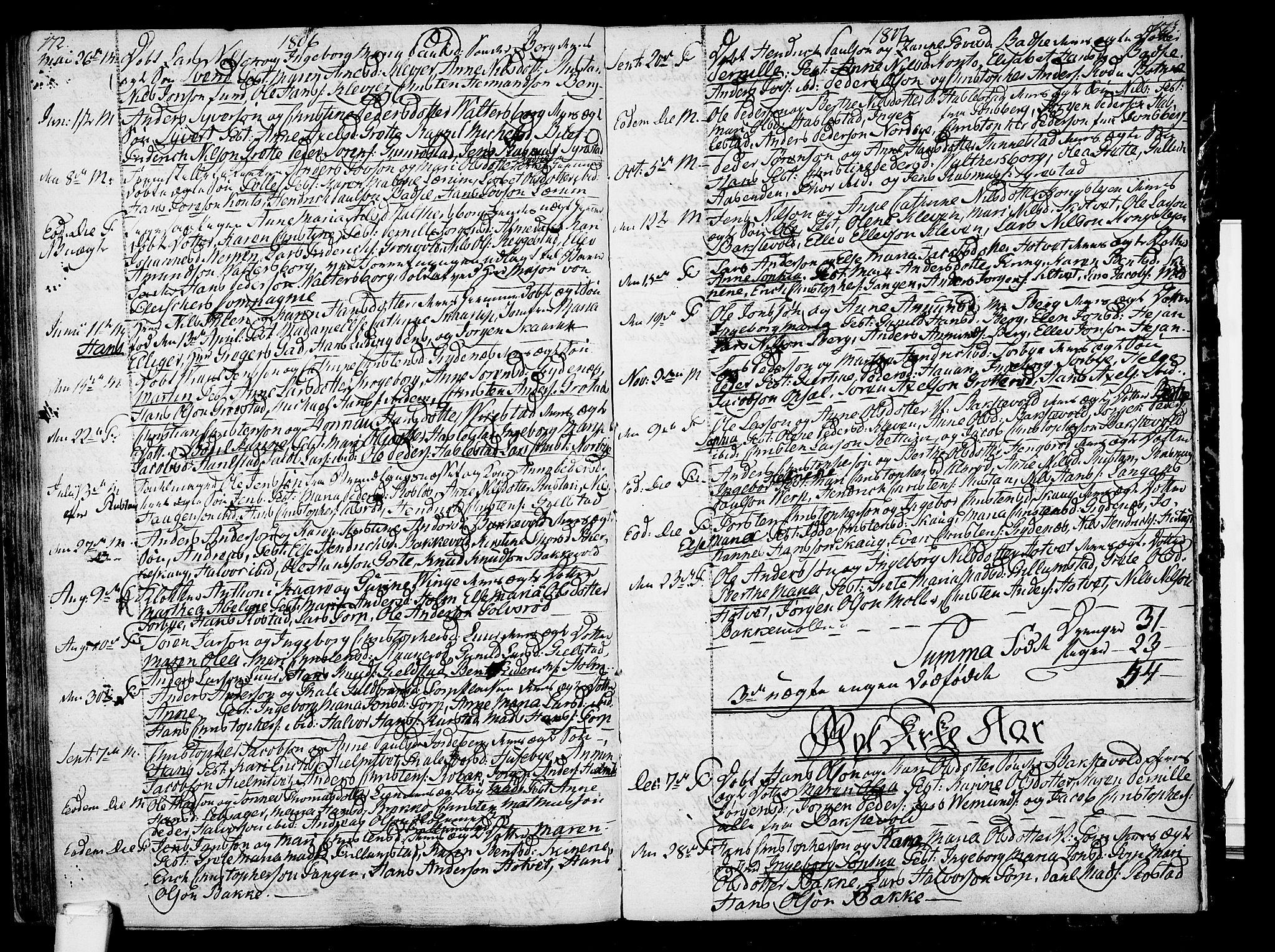 SAKO, Våle kirkebøker, F/Fa/L0005: Ministerialbok nr. I 5, 1773-1808, s. 172-173