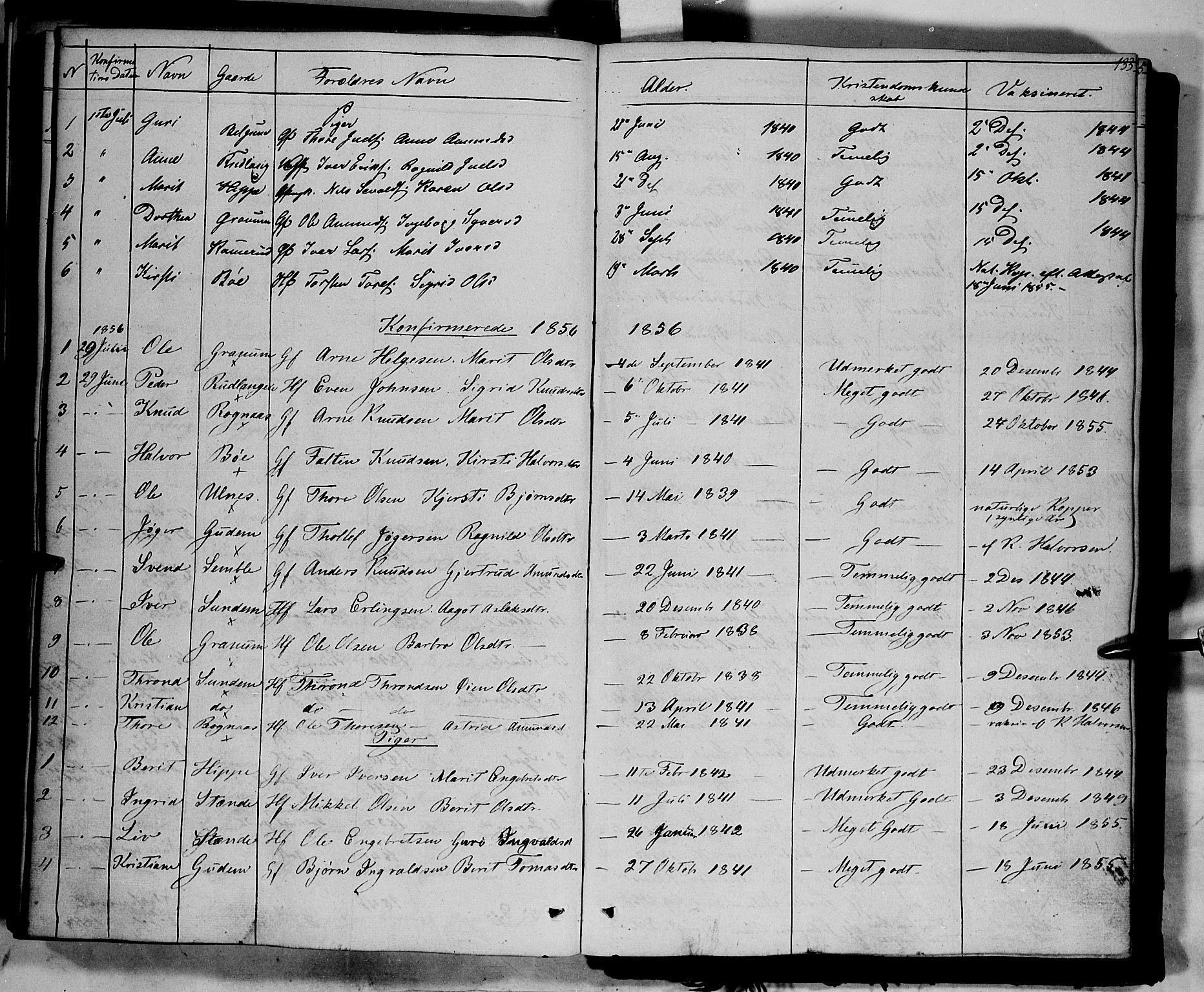 SAH, Nord-Aurdal prestekontor, Ministerialbok nr. 6, 1842-1863, s. 133