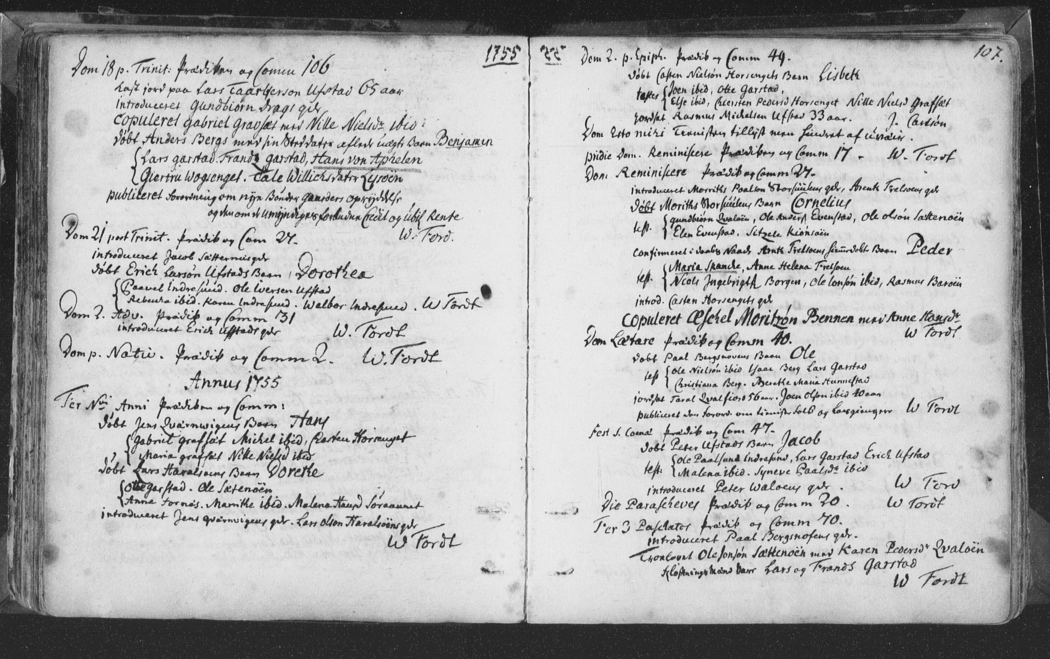 SAT, Ministerialprotokoller, klokkerbøker og fødselsregistre - Nord-Trøndelag, 786/L0685: Ministerialbok nr. 786A01, 1710-1798, s. 107