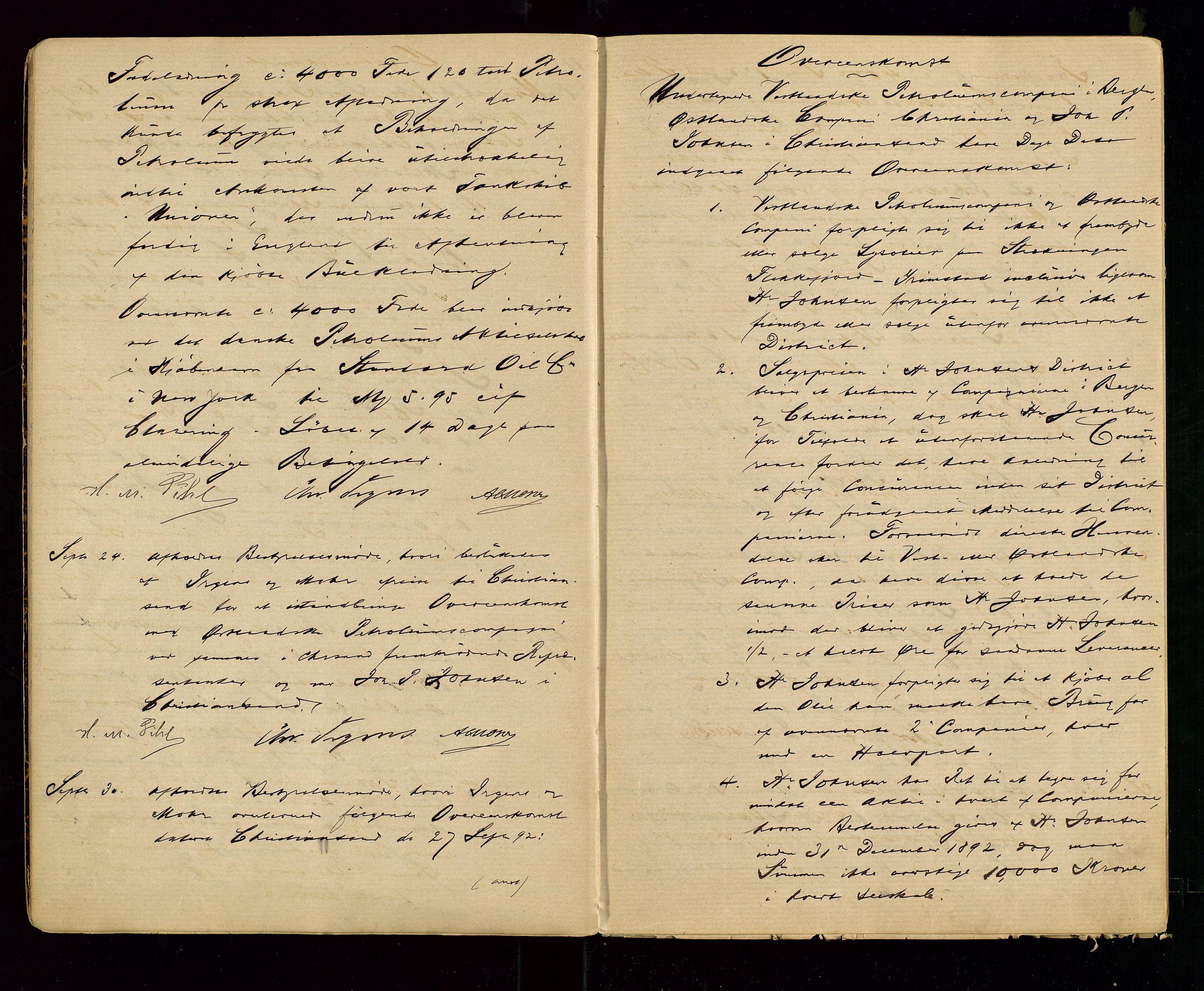 SAST, PA 1533 - A/S Vestlandske Petroleumscompani, A/Aa/L0001: Generalforsamlinger og styreprotokoller, 1890-1907, s. 8