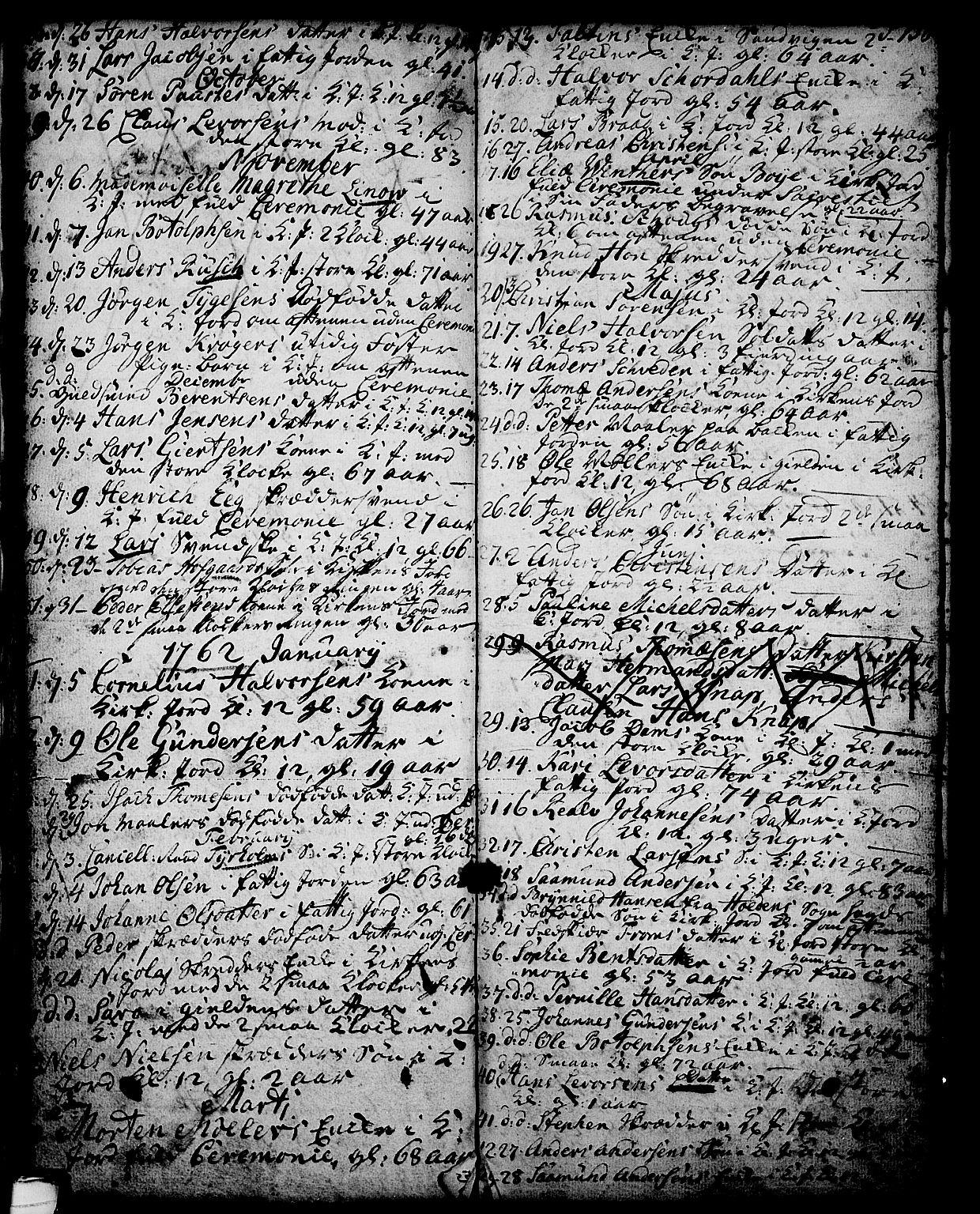 SAKO, Skien kirkebøker, G/Ga/L0001: Klokkerbok nr. 1, 1756-1791, s. 138