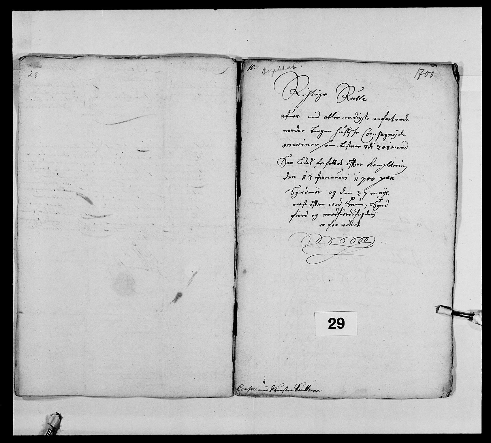 RA, Kommanderende general (KG I) med Det norske krigsdirektorium, E/Ea/L0473: Marineregimentet, 1664-1700, s. 305