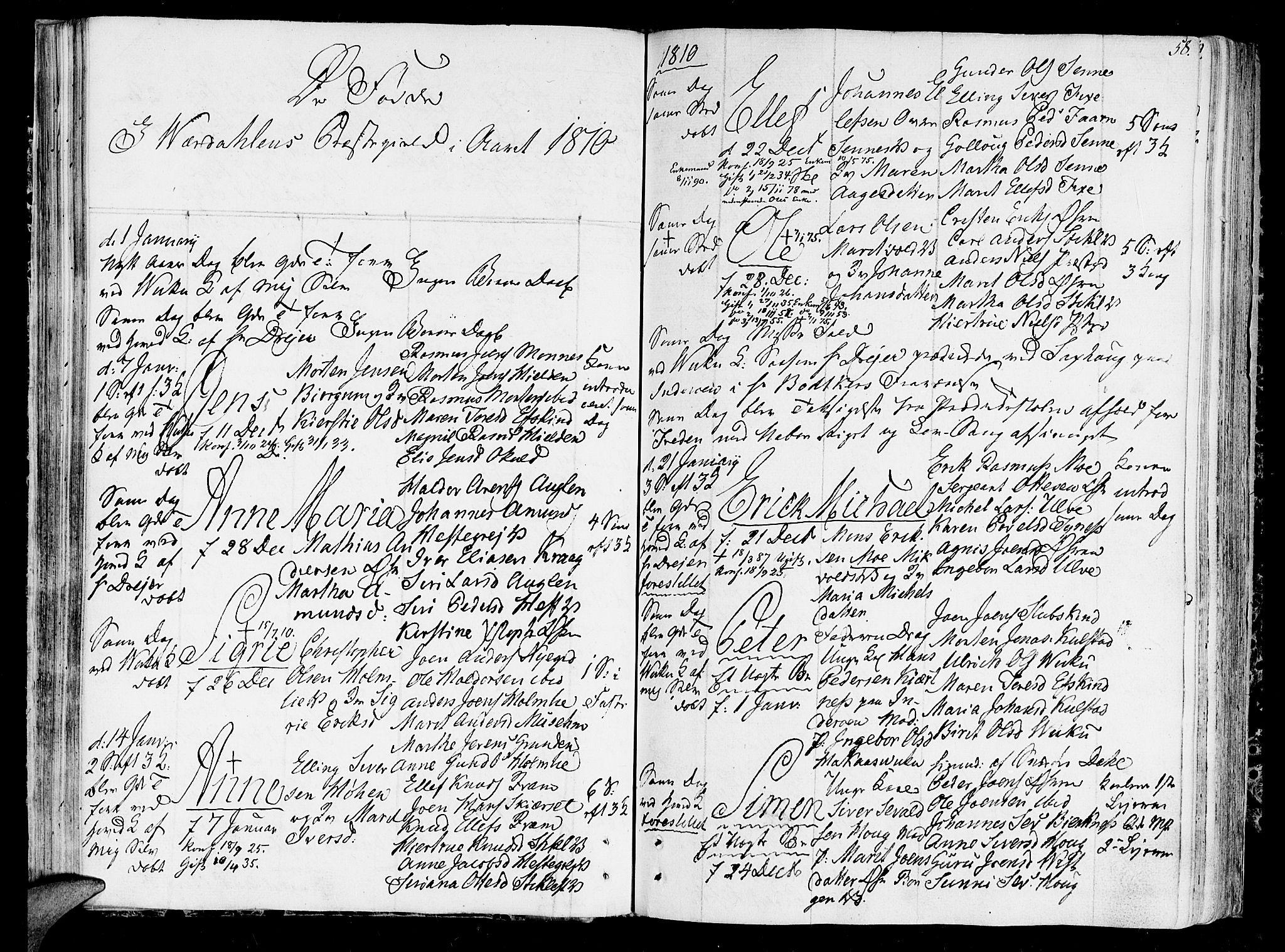 SAT, Ministerialprotokoller, klokkerbøker og fødselsregistre - Nord-Trøndelag, 723/L0233: Ministerialbok nr. 723A04, 1805-1816, s. 58