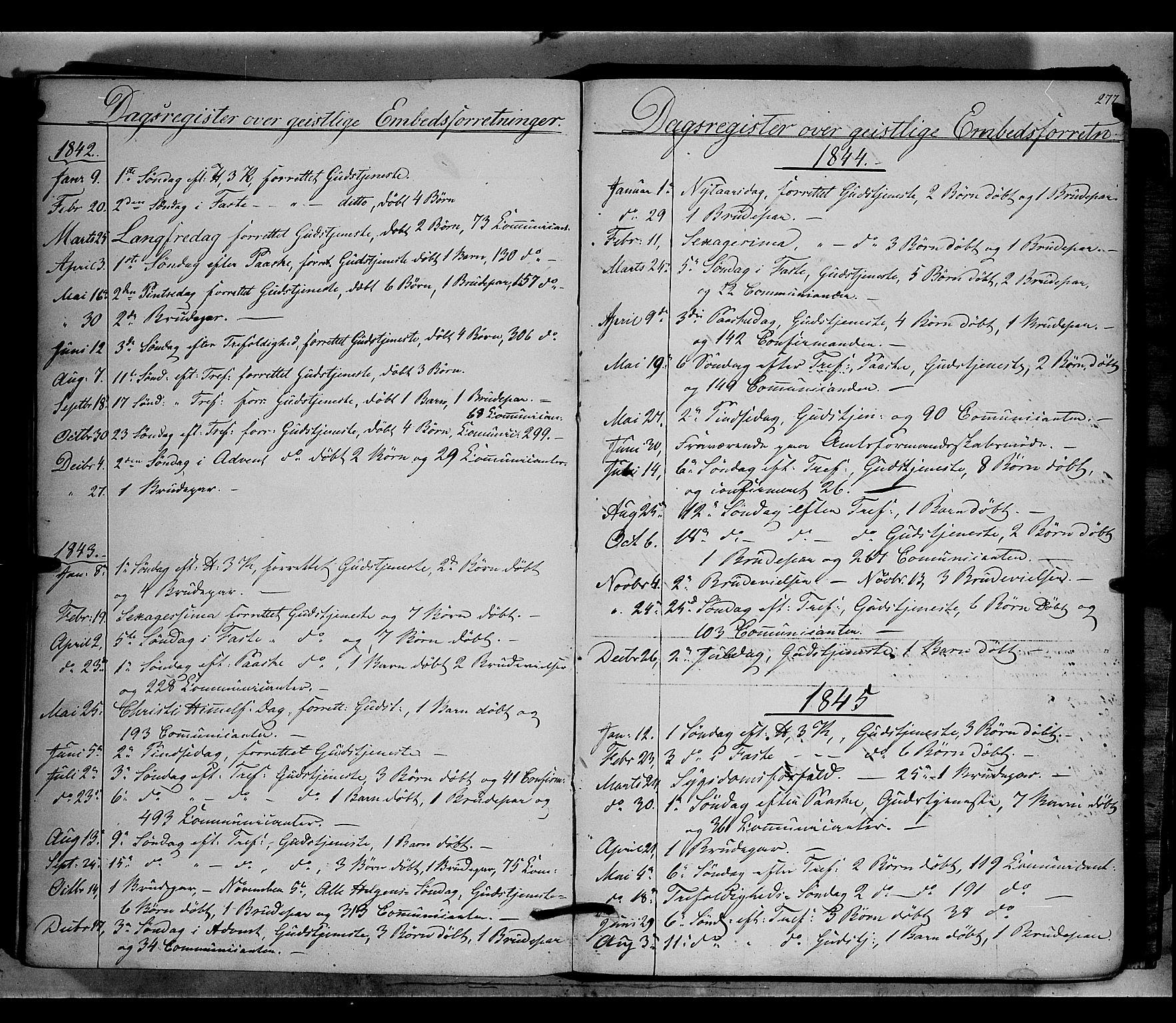 SAH, Nord-Aurdal prestekontor, Ministerialbok nr. 5, 1842-1863, s. 277