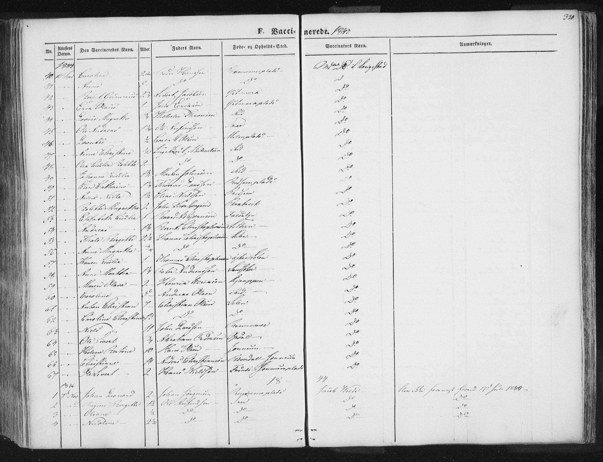 SAT, Ministerialprotokoller, klokkerbøker og fødselsregistre - Nord-Trøndelag, 741/L0392: Ministerialbok nr. 741A06, 1836-1848, s. 330