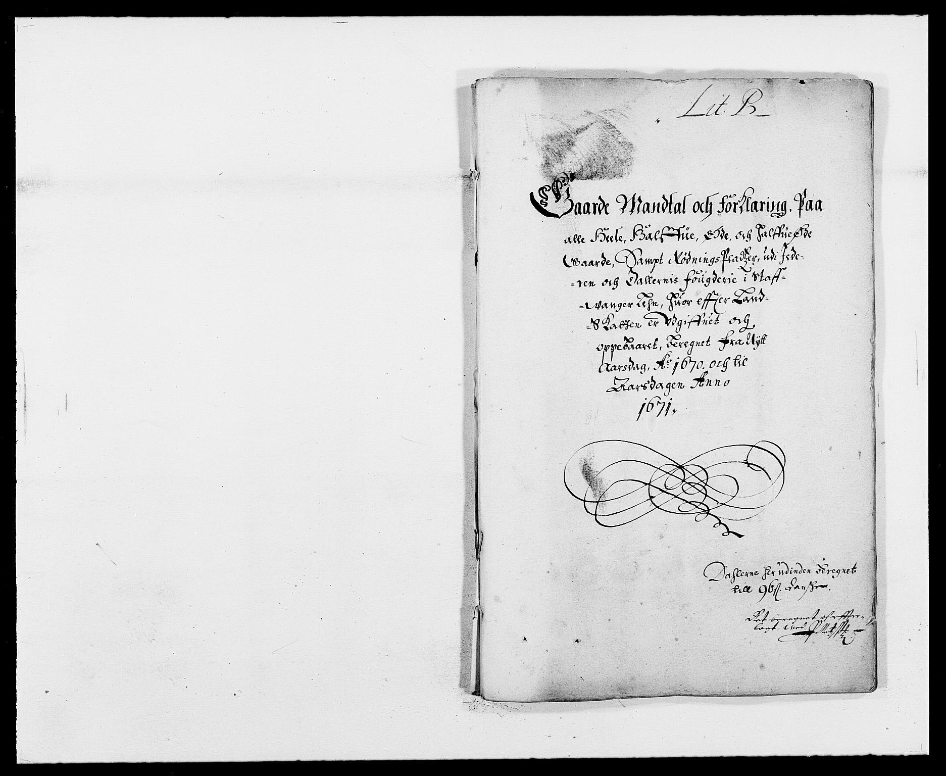 RA, Rentekammeret inntil 1814, Reviderte regnskaper, Fogderegnskap, R46/L2712: Fogderegnskap Jæren og Dalane, 1670-1671, s. 8