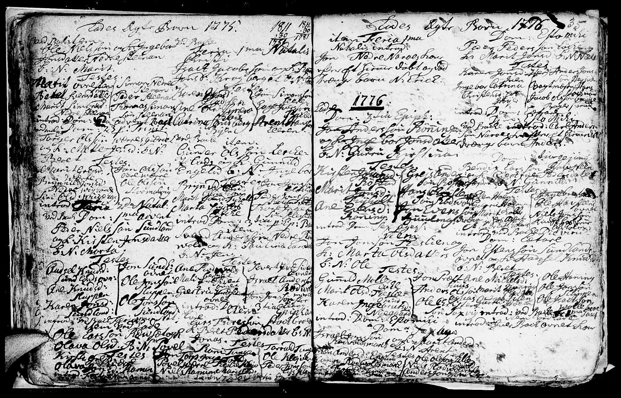 SAT, Ministerialprotokoller, klokkerbøker og fødselsregistre - Sør-Trøndelag, 606/L0305: Klokkerbok nr. 606C01, 1757-1819, s. 35