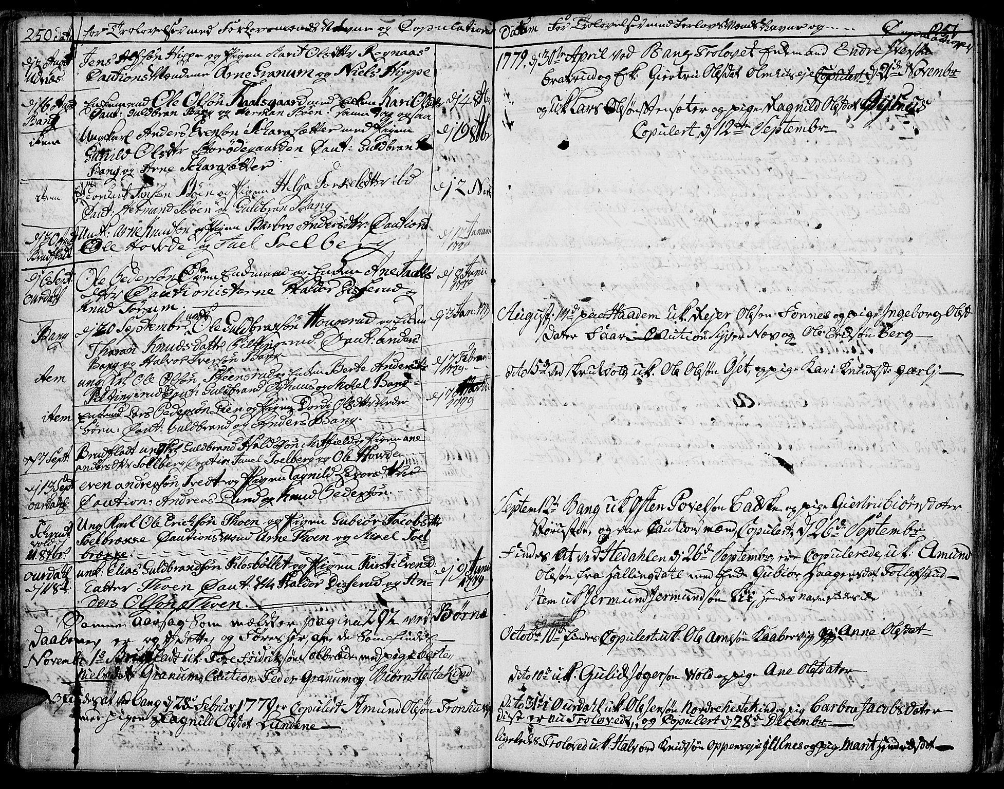 SAH, Aurdal prestekontor, Ministerialbok nr. 5, 1763-1781, s. 250-251