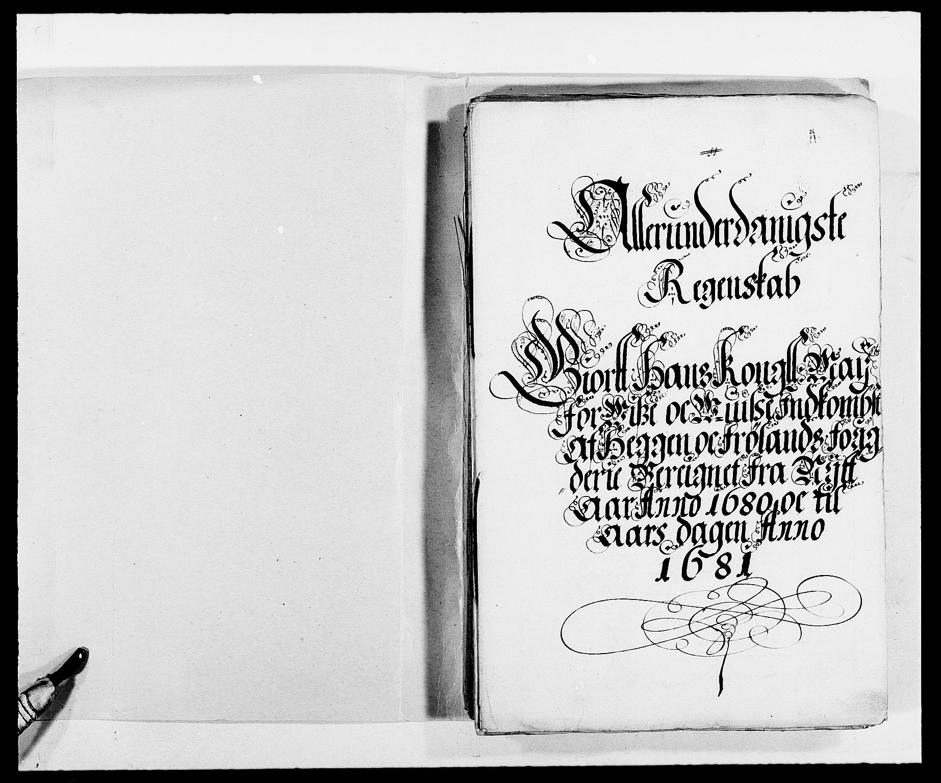 RA, Rentekammeret inntil 1814, Reviderte regnskaper, Fogderegnskap, R06/L0280: Fogderegnskap Heggen og Frøland, 1681-1684, s. 2