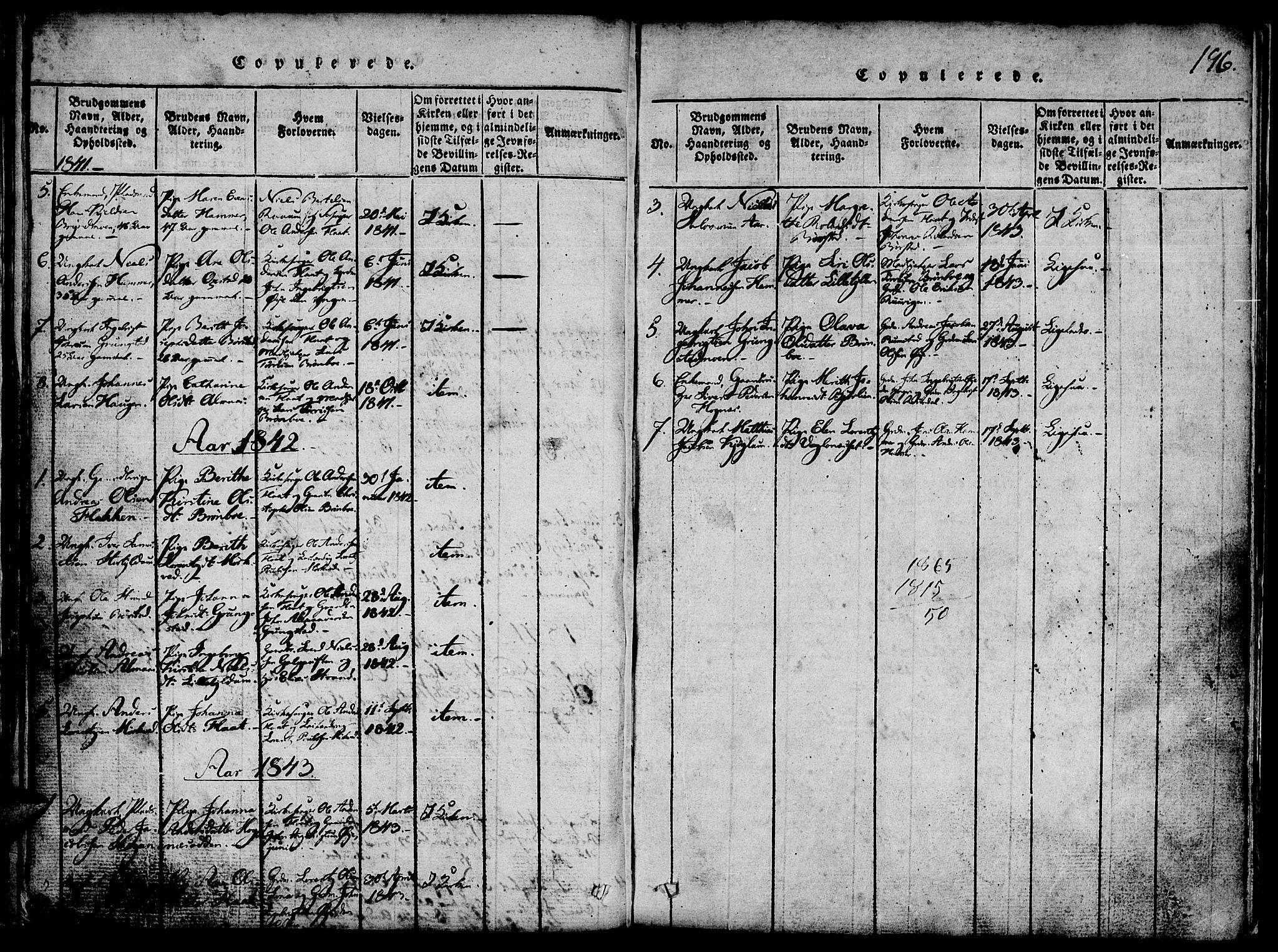 SAT, Ministerialprotokoller, klokkerbøker og fødselsregistre - Nord-Trøndelag, 765/L0562: Klokkerbok nr. 765C01, 1817-1851, s. 196