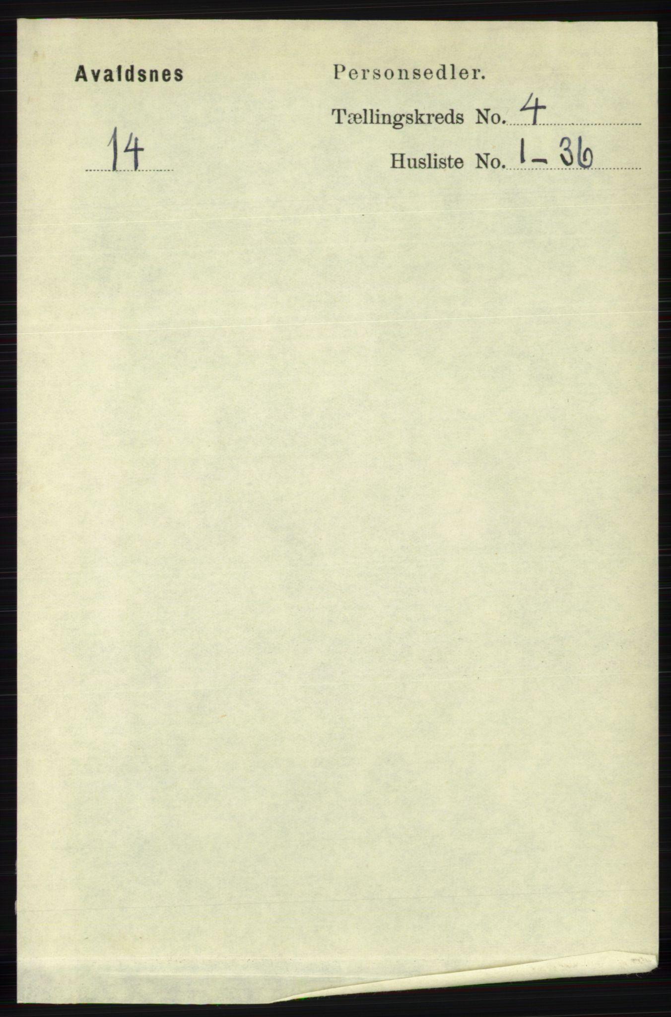 RA, Folketelling 1891 for 1147 Avaldsnes herred, 1891, s. 2823