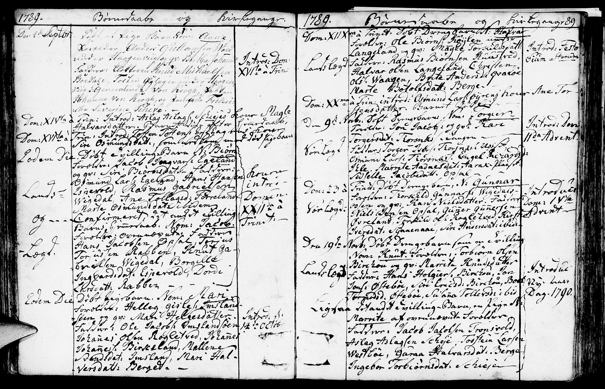 SAST, Vikedal sokneprestkontor, IV: Ministerialbok nr. A 2, 1779-1817, s. 89