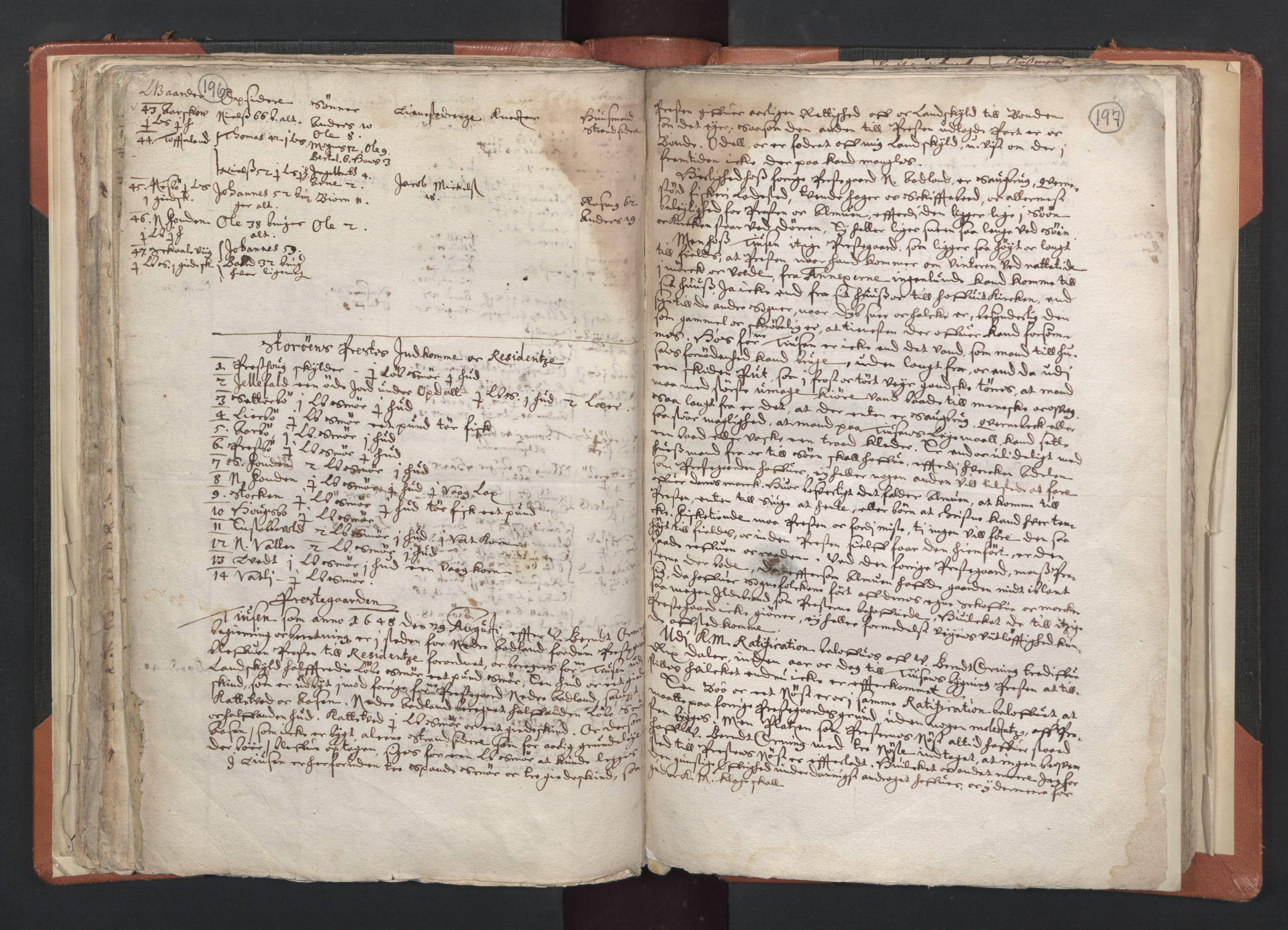 RA, Sogneprestenes manntall 1664-1666, nr. 20: Sunnhordland prosti, 1664-1666, s. 196-197