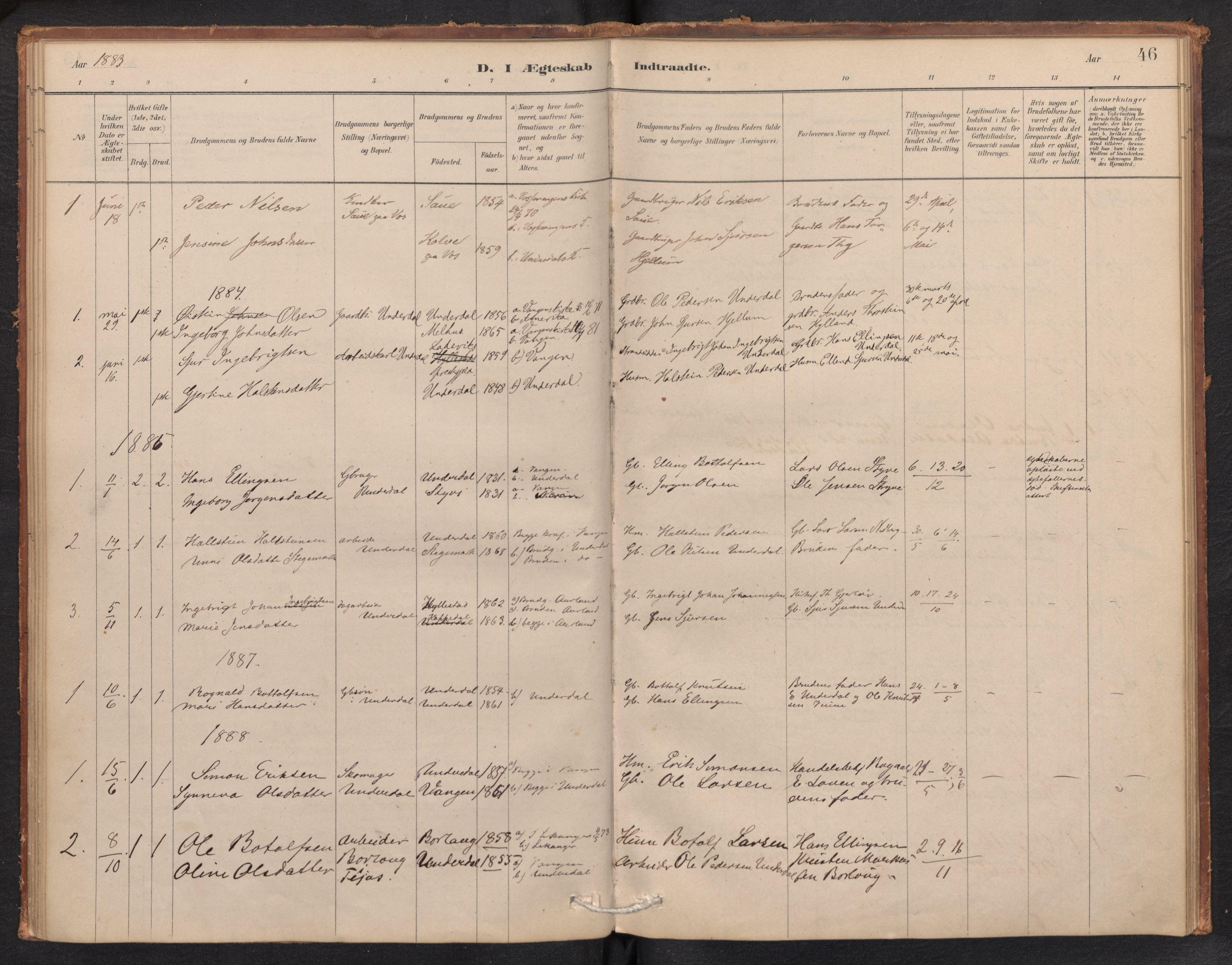 SAB, Aurland Sokneprestembete*, Ministerialbok nr. E 1, 1880-1907, s. 45b-46a