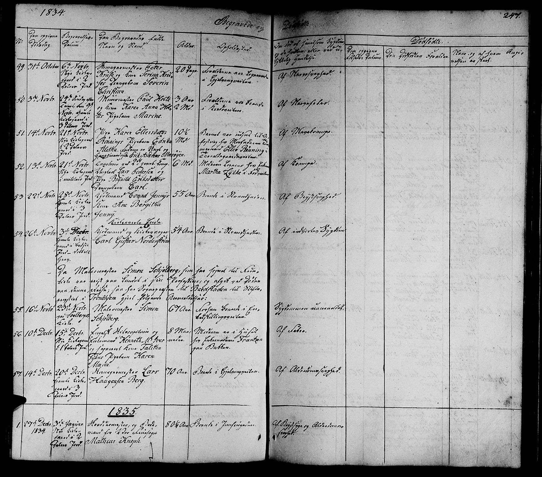 SAT, Ministerialprotokoller, klokkerbøker og fødselsregistre - Sør-Trøndelag, 602/L0136: Klokkerbok nr. 602C04, 1833-1845, s. 247