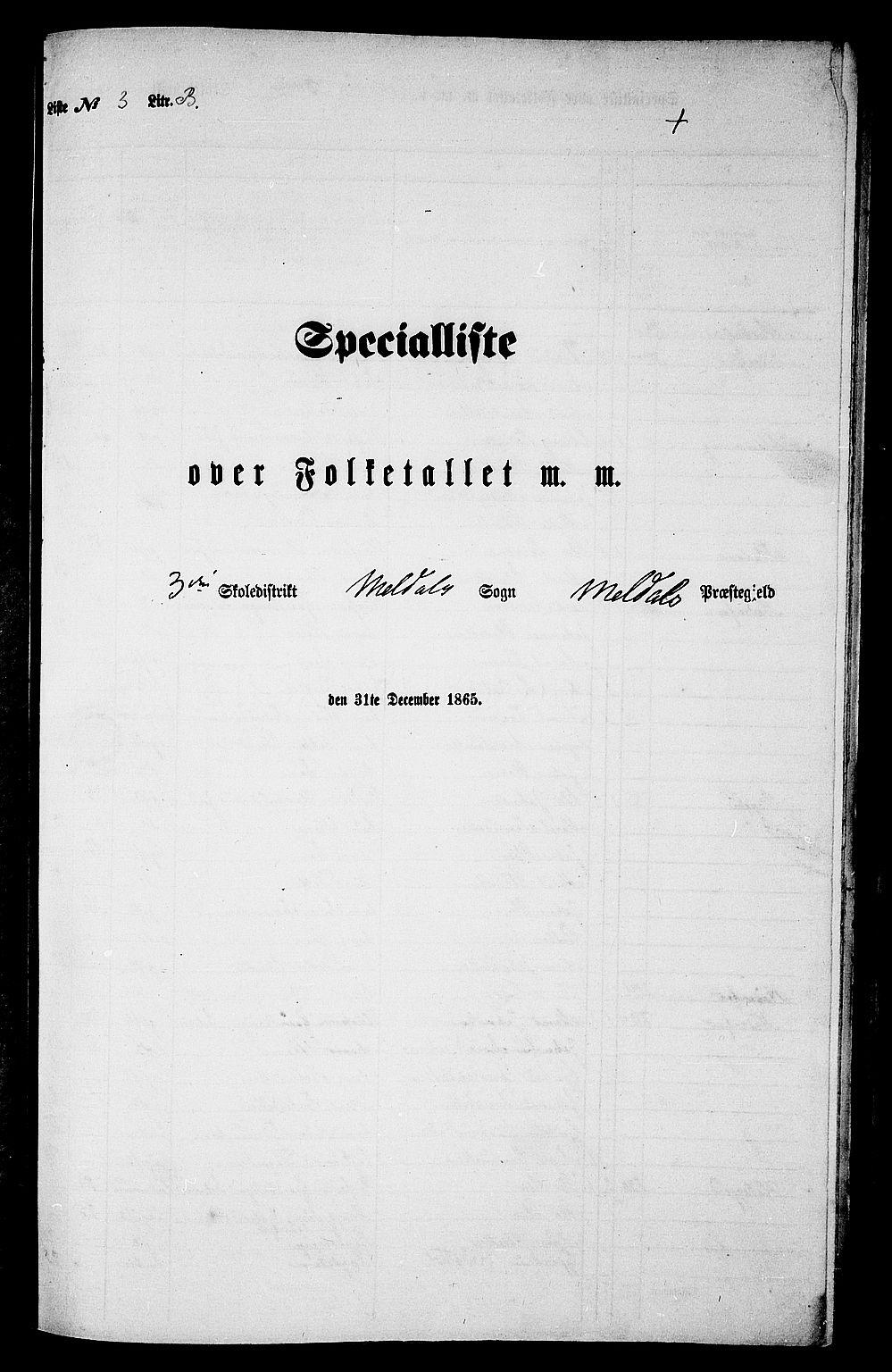 RA, Folketelling 1865 for 1636P Meldal prestegjeld, 1865, s. 80