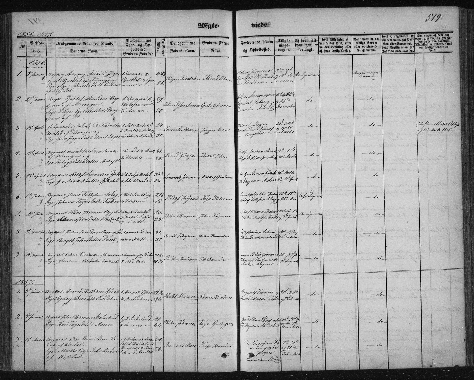 SAKO, Nissedal kirkebøker, F/Fa/L0003: Ministerialbok nr. I 3, 1846-1870, s. 518-519