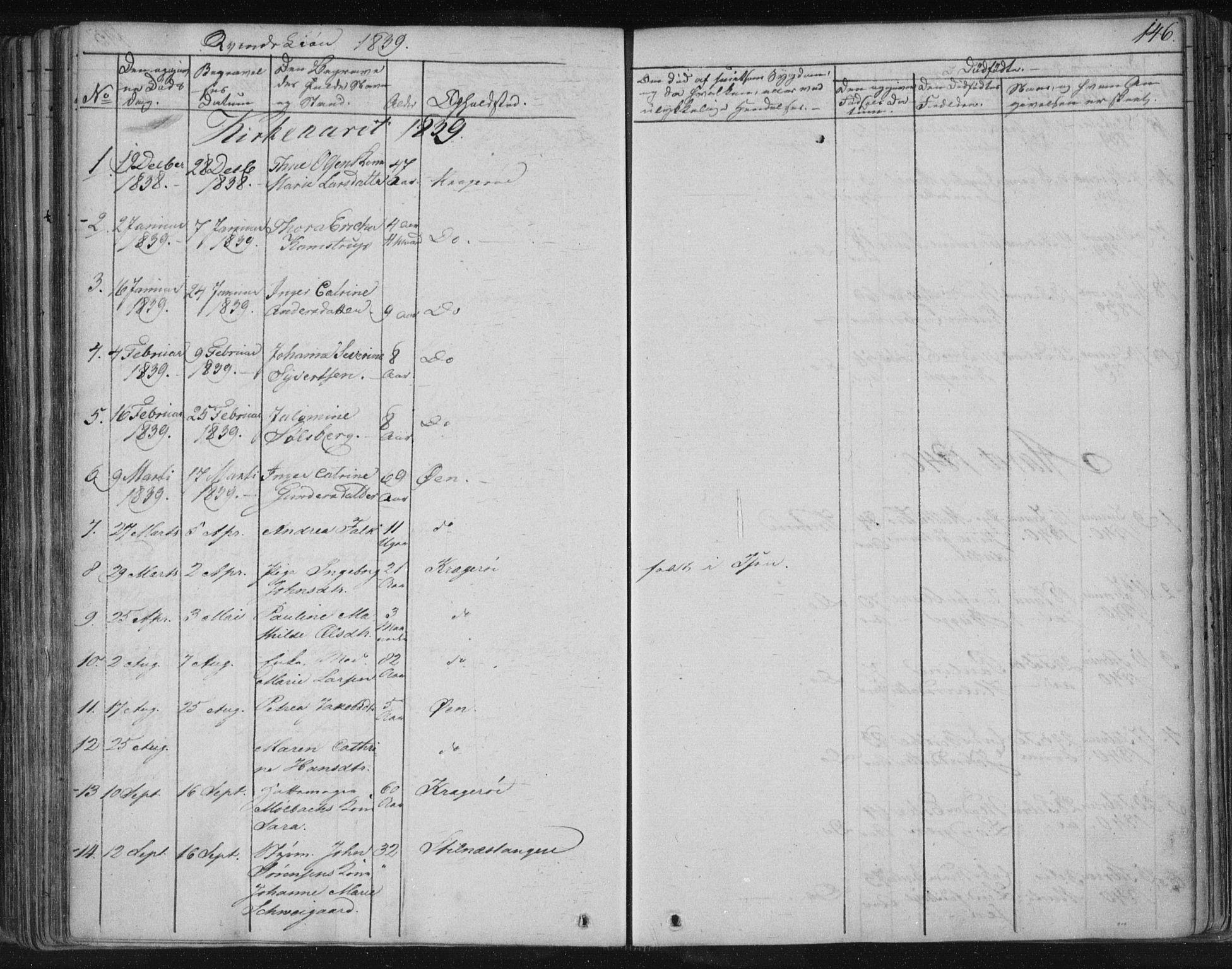 SAKO, Kragerø kirkebøker, F/Fa/L0005: Ministerialbok nr. 5, 1832-1847, s. 146